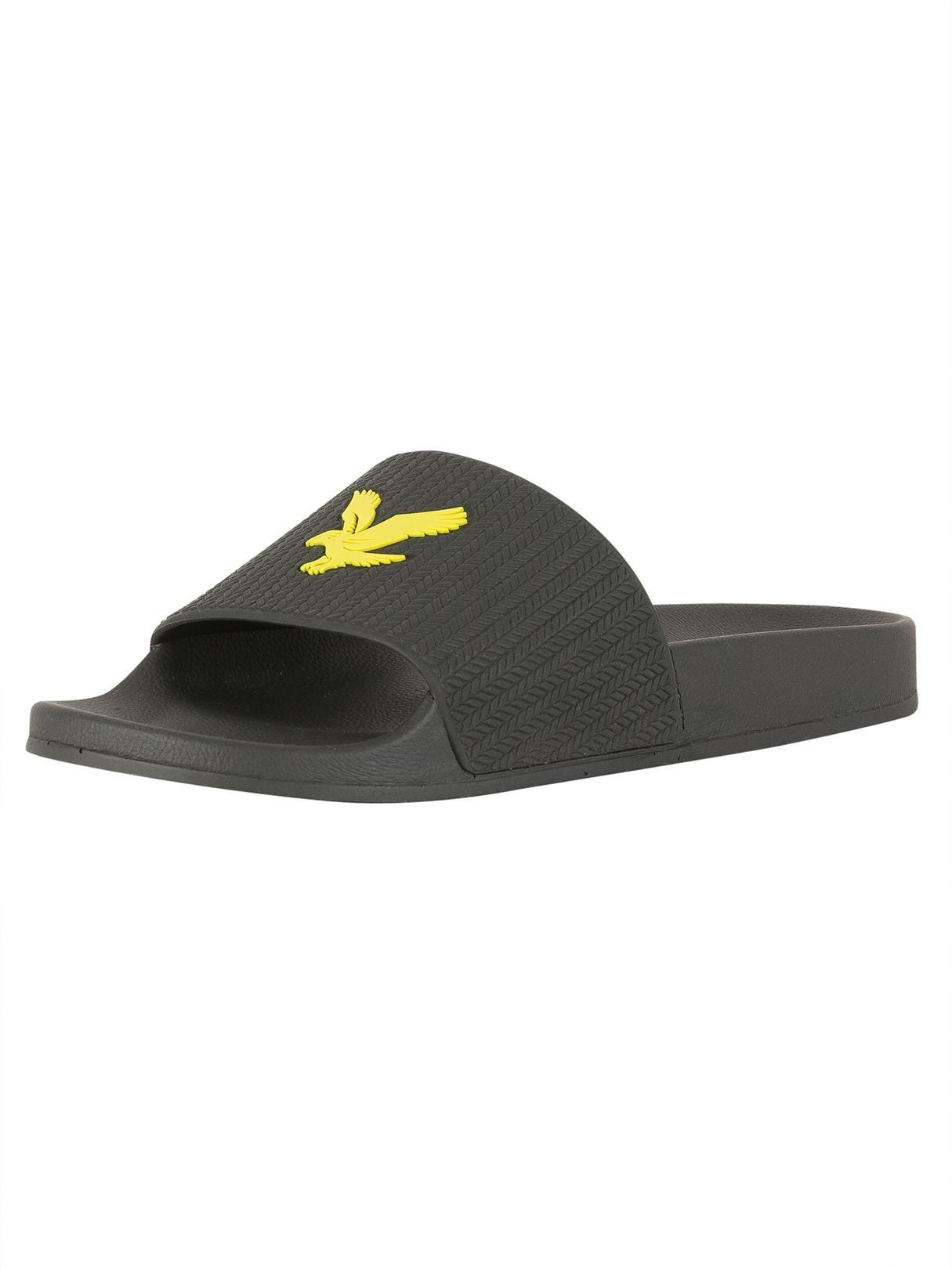 e04834842444 Lyst - Lyle   Scott True Black Thomson Flip Flops in Black for Men