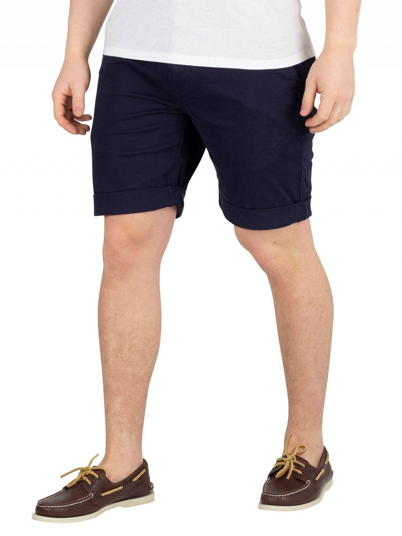 7f06c905 Tommy Hilfiger Black Iris Navy Essential Chino Shorts in Black for ...