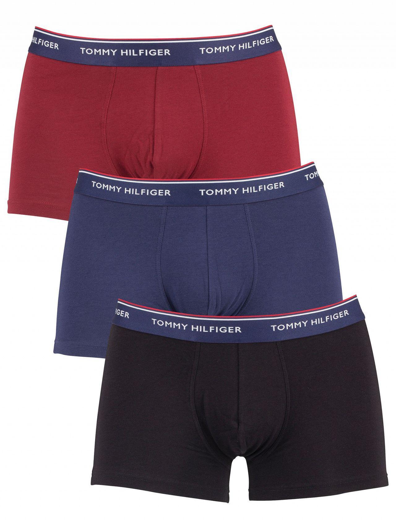 ce9144cde4f6 Tommy Hilfiger - Pomegranate/peacoat/black 3 Pack Premium Essentials Trunks  for Men -. View fullscreen
