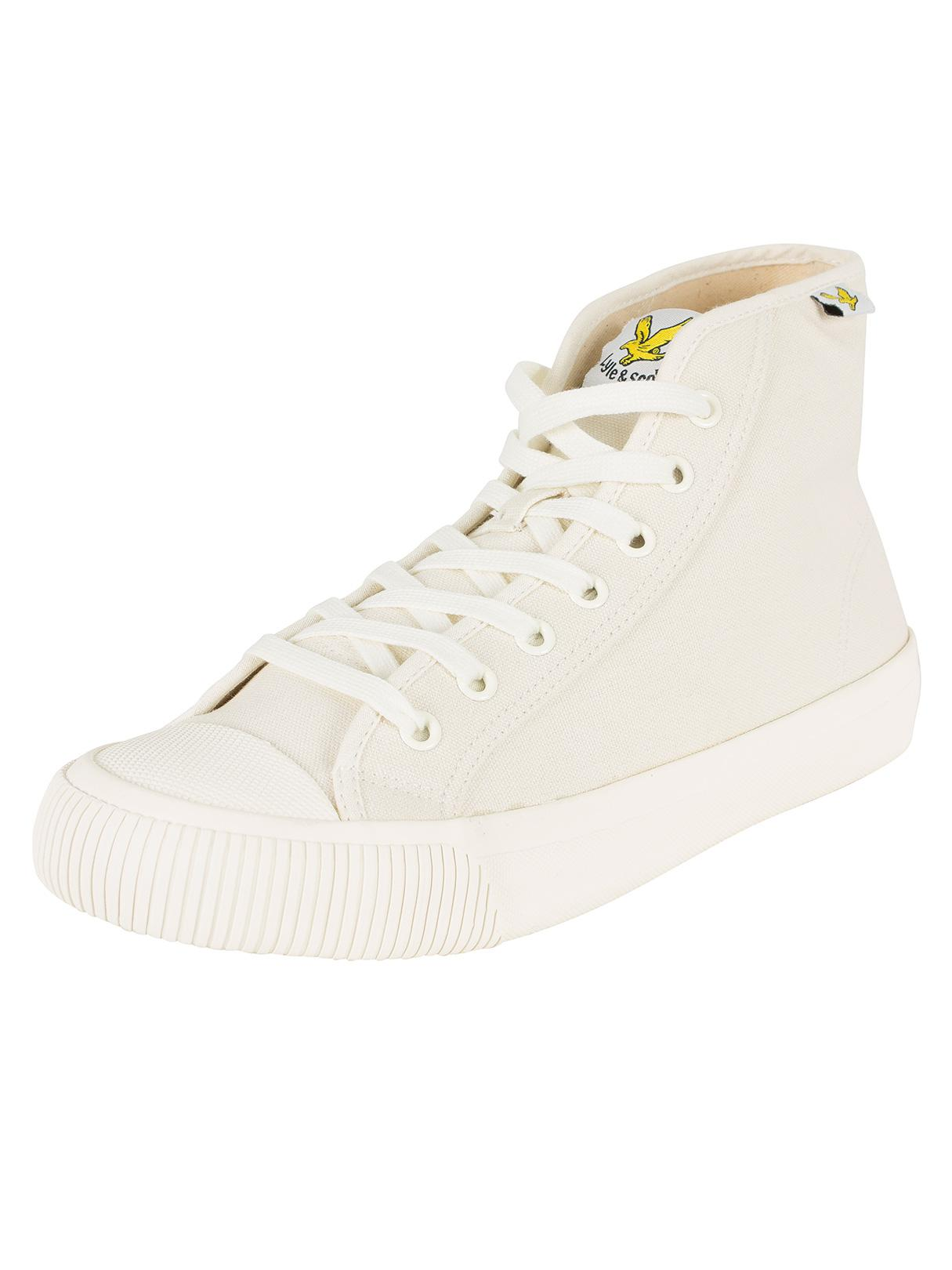 Men's Luggie Hi Canvas Trainers White