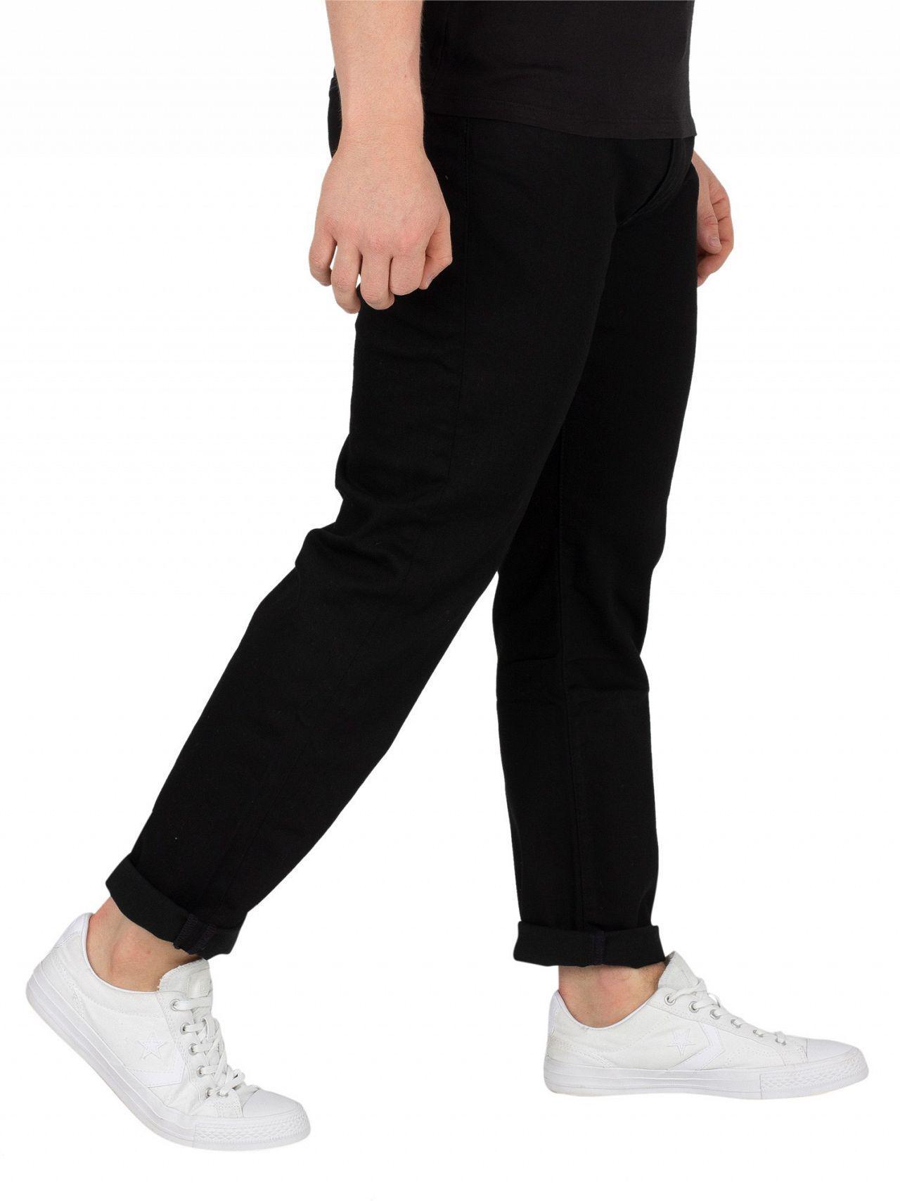 99fcdd38 Lyst - Levi's Nightshine 502 Regular Taper Jeans in Black for Men