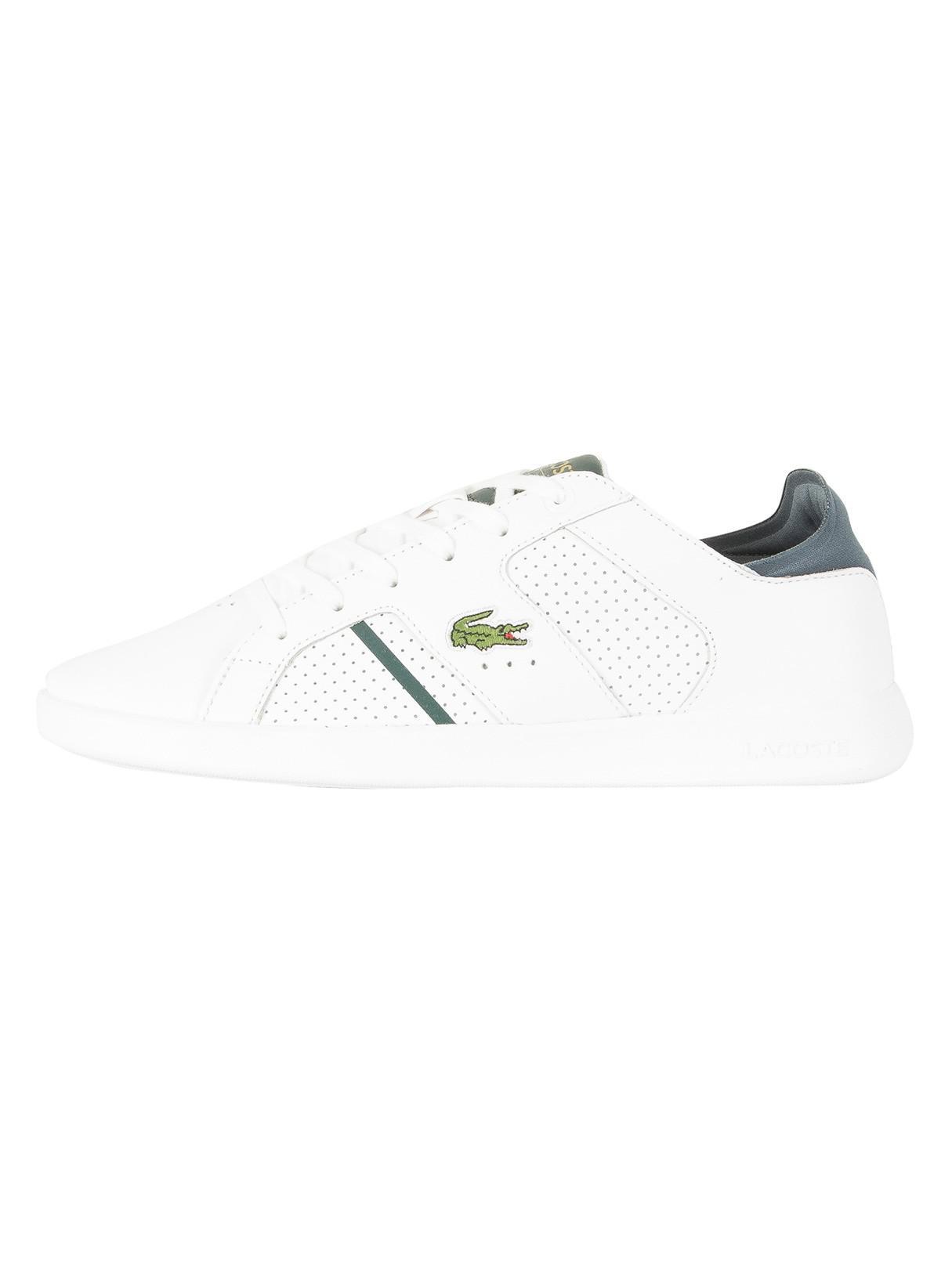 c92a28d849672e Lyst - Lacoste White dark Green Novas Ct 118 1 Spm Leather Trainers ...