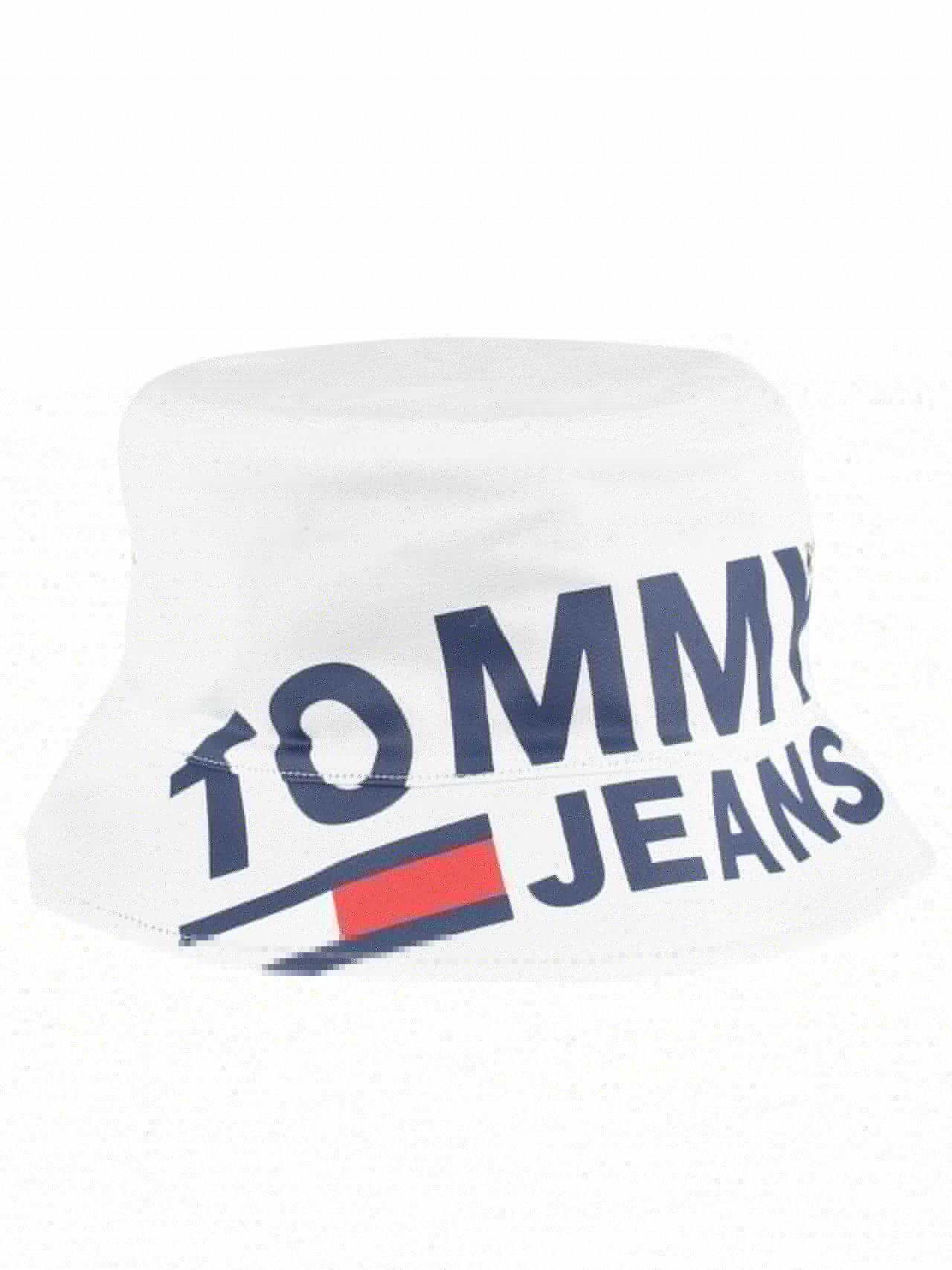 b9ba07c9 Tommy Hilfiger Classic White Logo Reversible Bucket Hat in White for ...