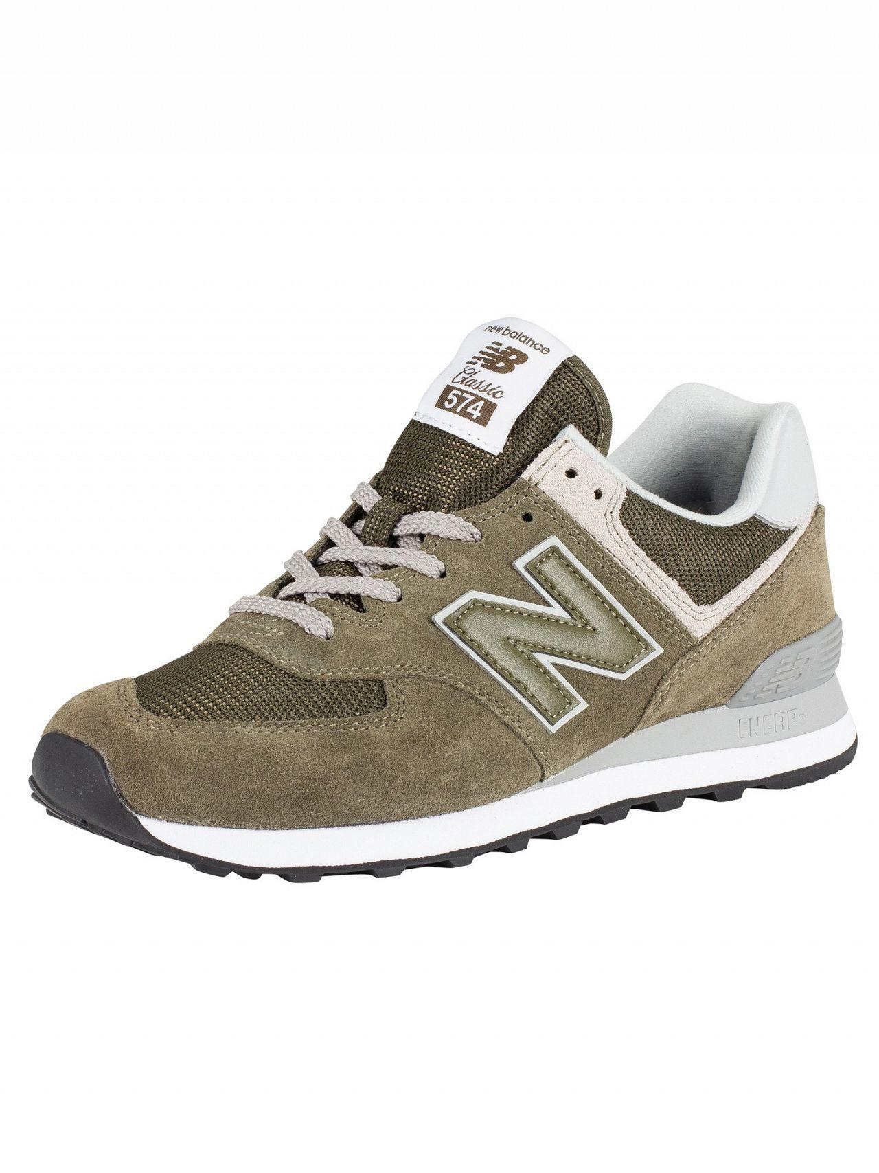 fd70c99b13b95 New Balance Green 574 Suede Trainers in Green for Men - Lyst