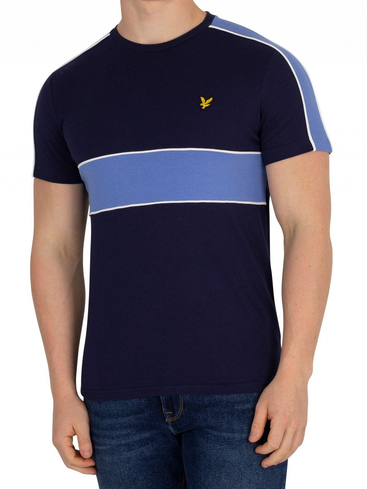 929fe2b74 Lyst - Lyle & Scott Navy Cut & Sew T-shirt in Blue for Men