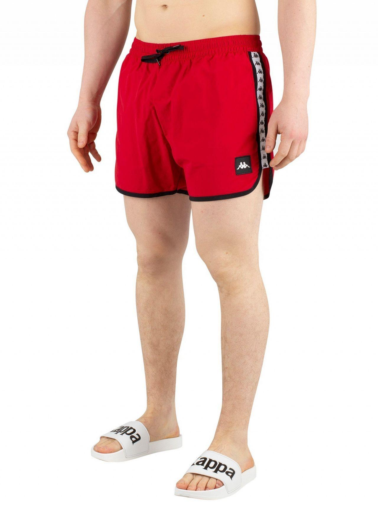 d7e1b40df47ce Kappa Red/white/black Authentic Agius Swim Shorts in Red for Men - Lyst