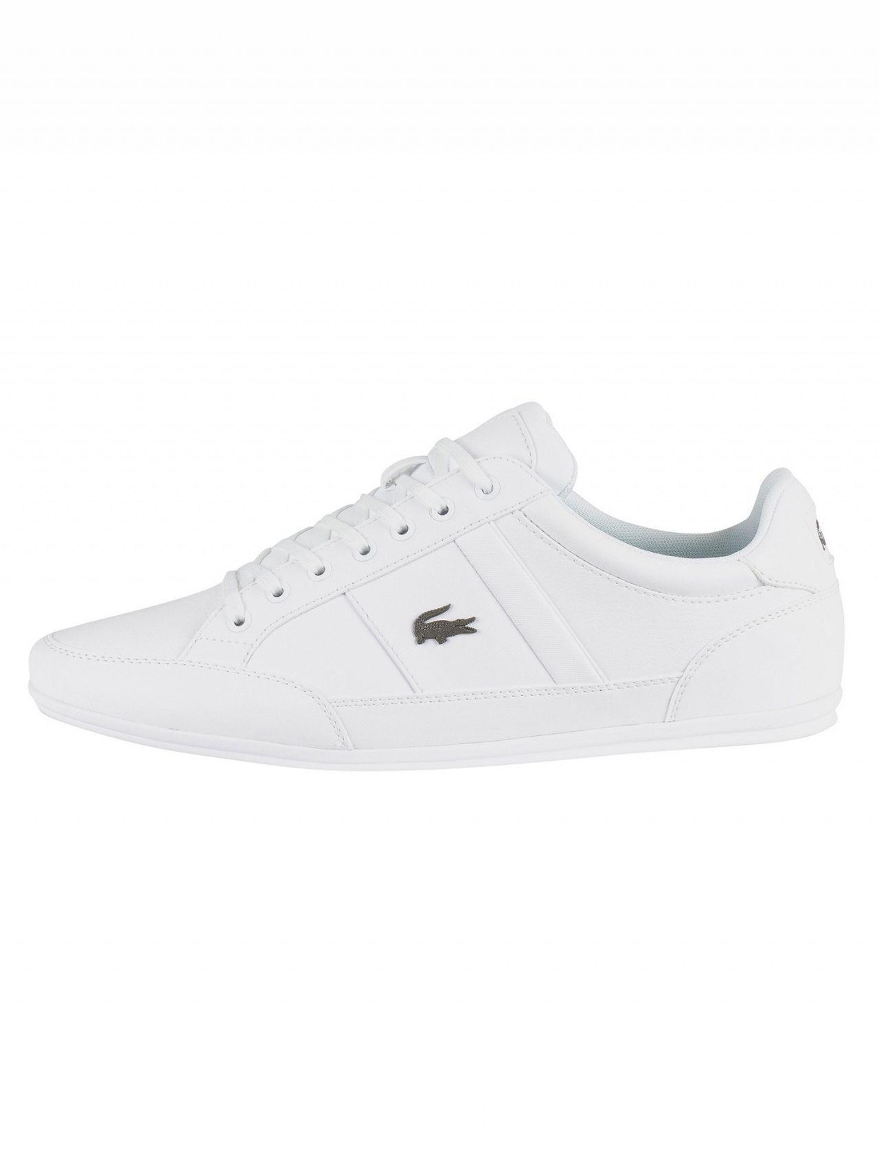 c0d6984e25e143 Lacoste White white Chaymon Bl 1 Cma Leather Trainers in White for Men -  Lyst