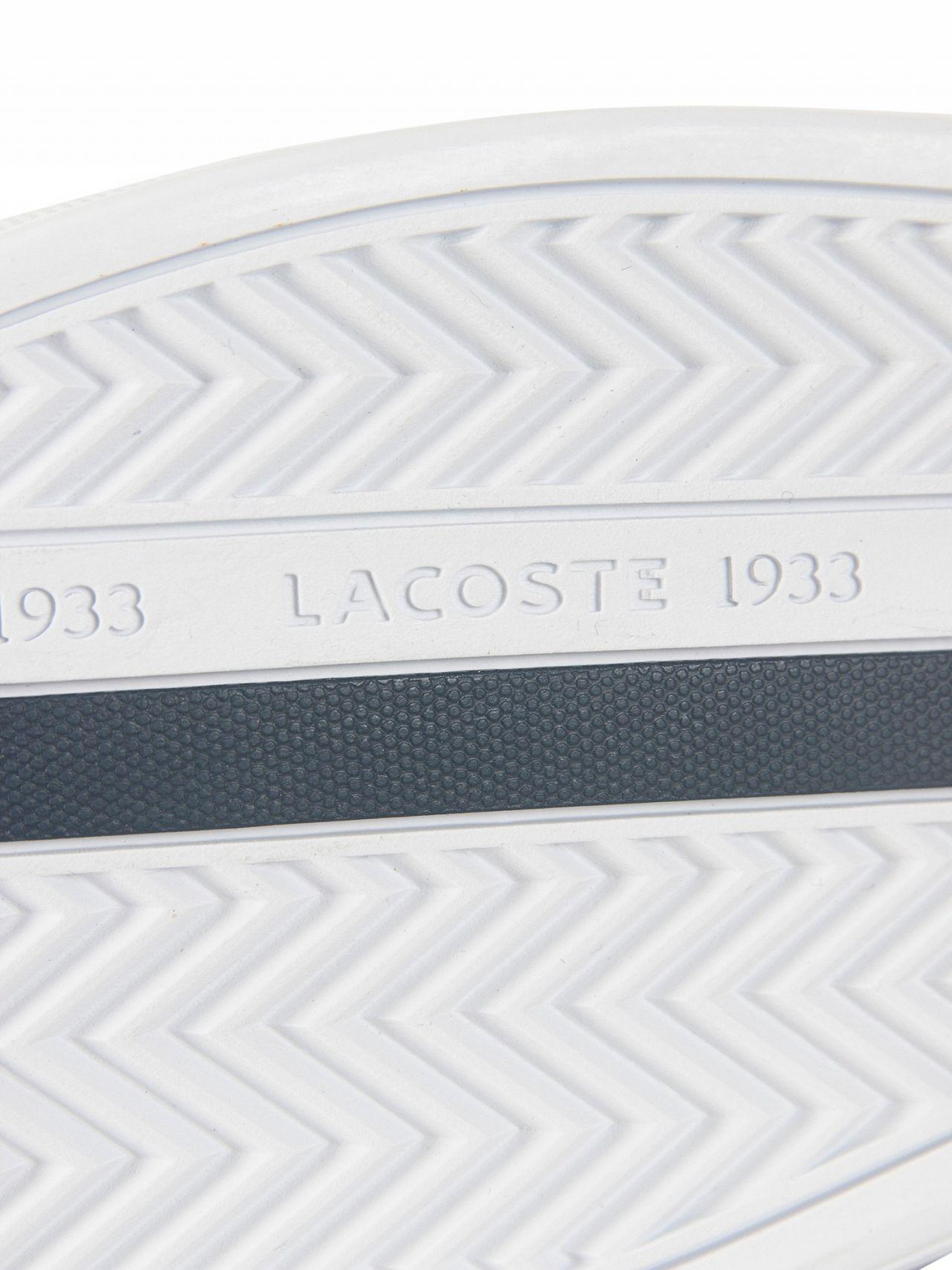 9c831aad4e7b1c Lyst - Lacoste White navy Europa 118 1 Qsp Spm Leather Trainers in ...
