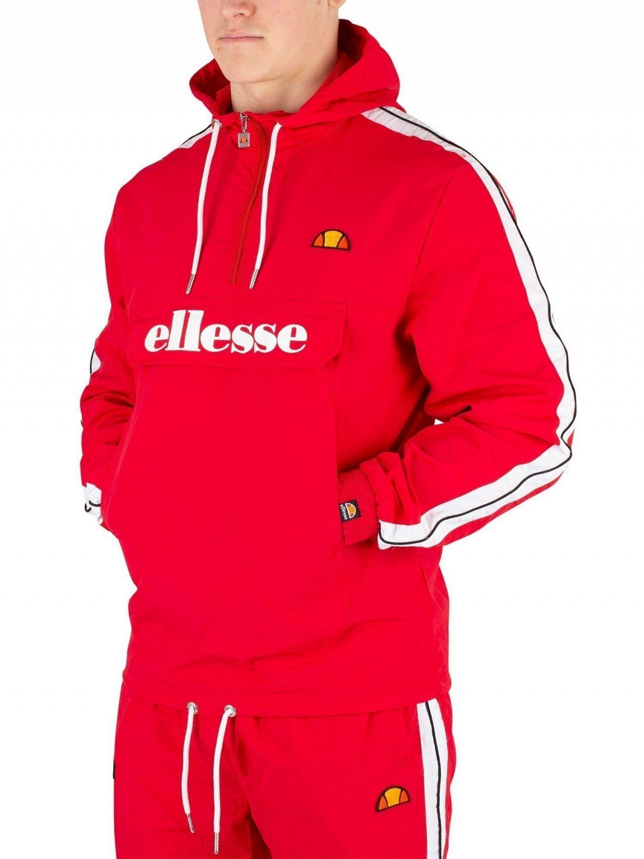 2308c2e95e Ellesse Red Fighter 1/2 Zip Track Jacket in Red for Men - Lyst