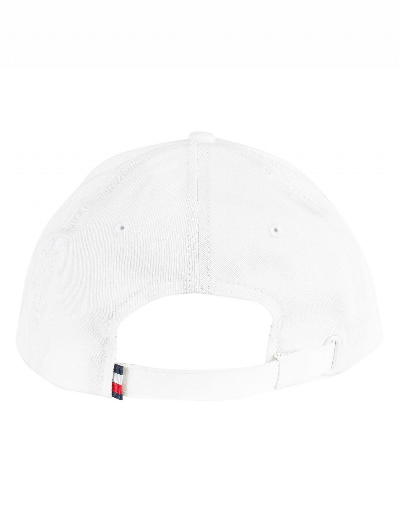 6285a99b8e1 Tommy Hilfiger - White Large Flag Baseball Cap for Men - Lyst. View  fullscreen