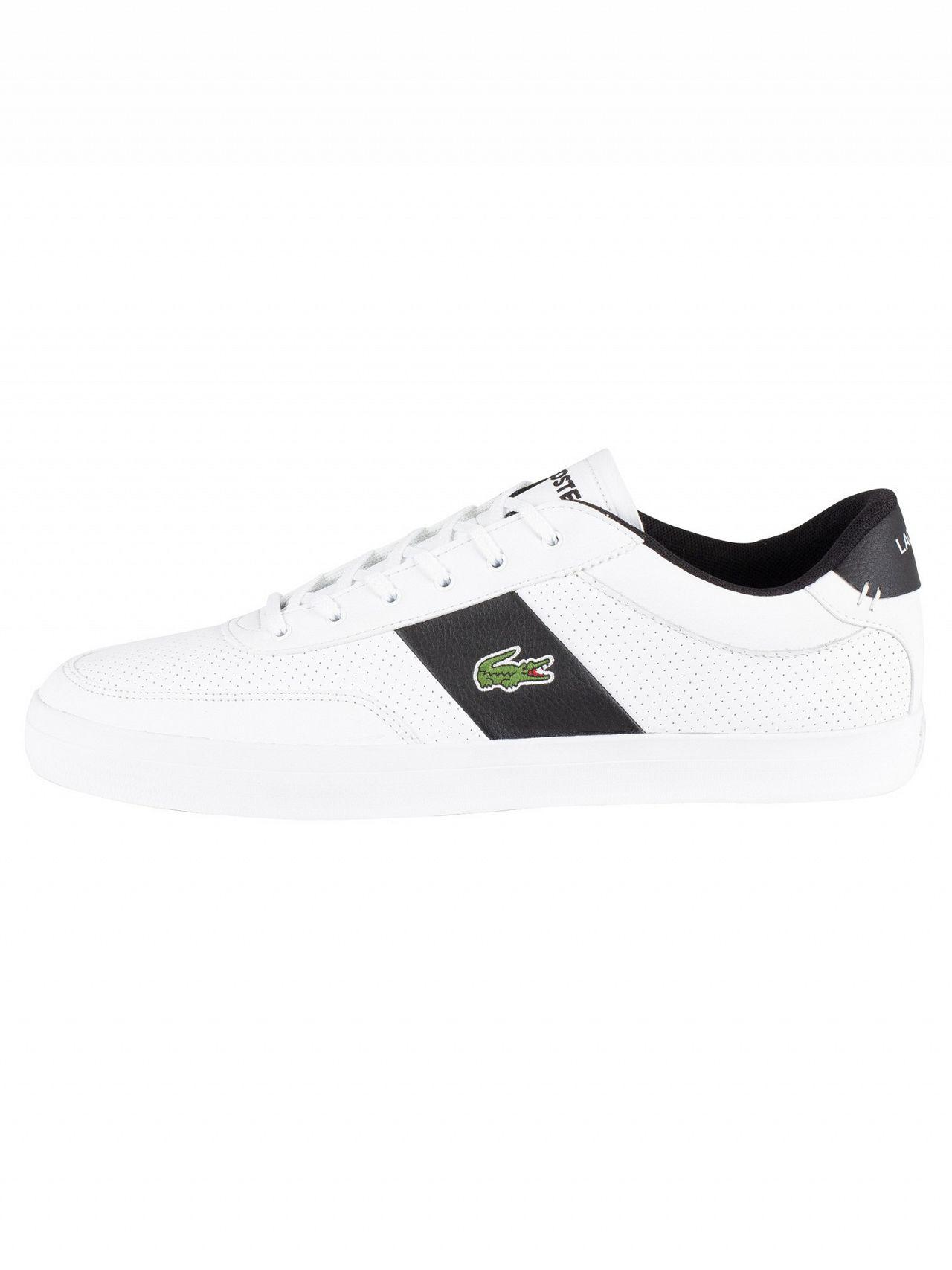 a5c60b9c9 Lacoste - White black Court-master 119 2 Leather Trainers for Men - Lyst.  View fullscreen