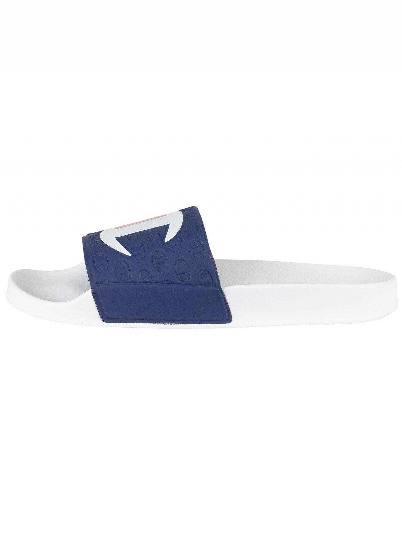 a4f26d3fef9d Lyst - Champion White navy Logo Sliders in White for Men