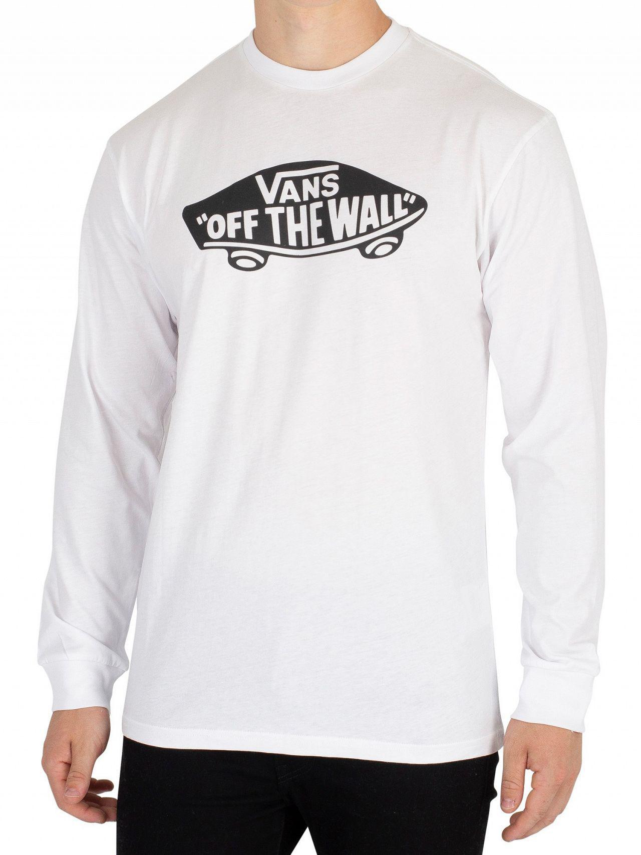 837dd7be6acd87 Lyst - Vans Ot Long Sleeve Long Sleeve T-shirt in White for Men
