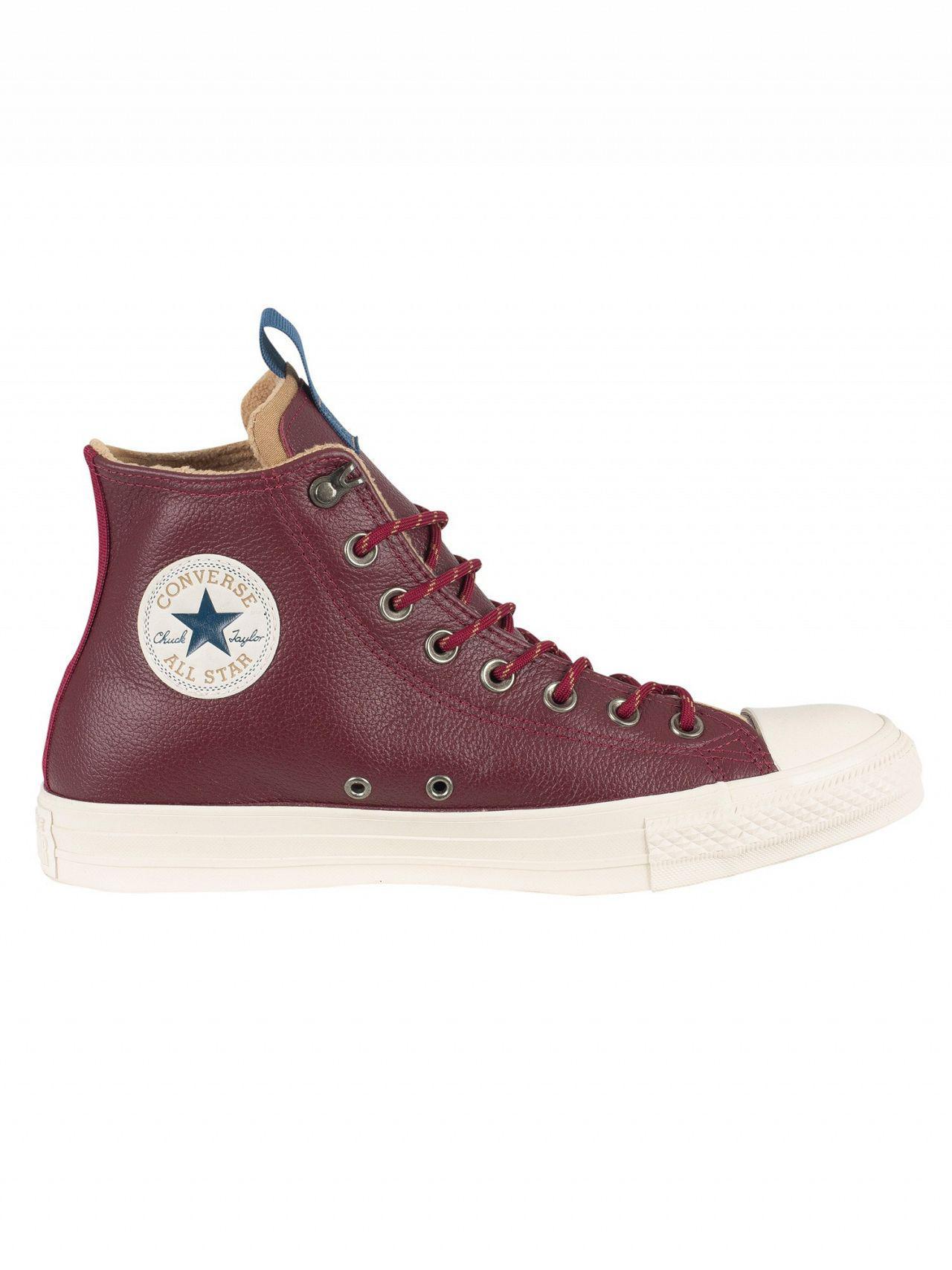 67533c7e22c4 Lyst - Converse Dark Burgundy teak driftwood Ct All Star Leather ...