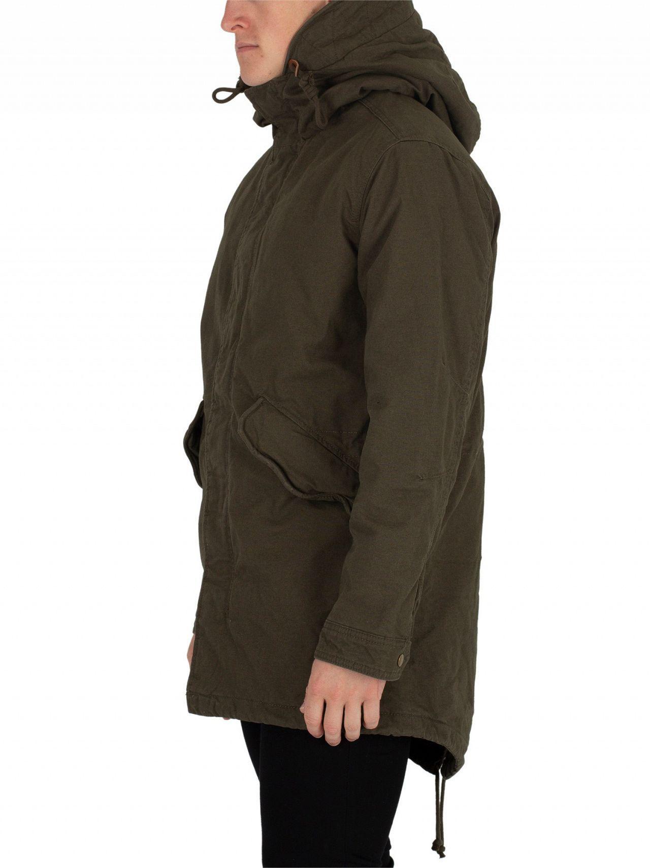 For Jack New Jones Men Forest Night Parka Bento Jacket In amp; Green vSwxv1