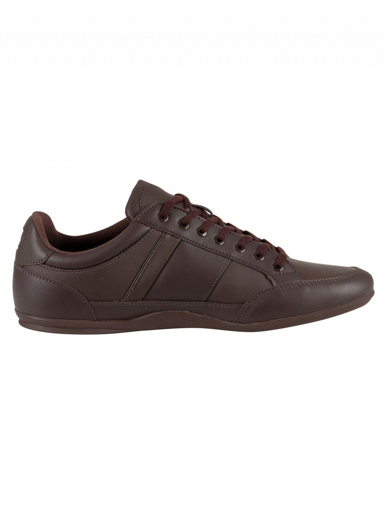 324ff1f01496 Lacoste - Dark Brown Chaymon Bl 1 Cma Leather Trainers for Men - Lyst. View  fullscreen