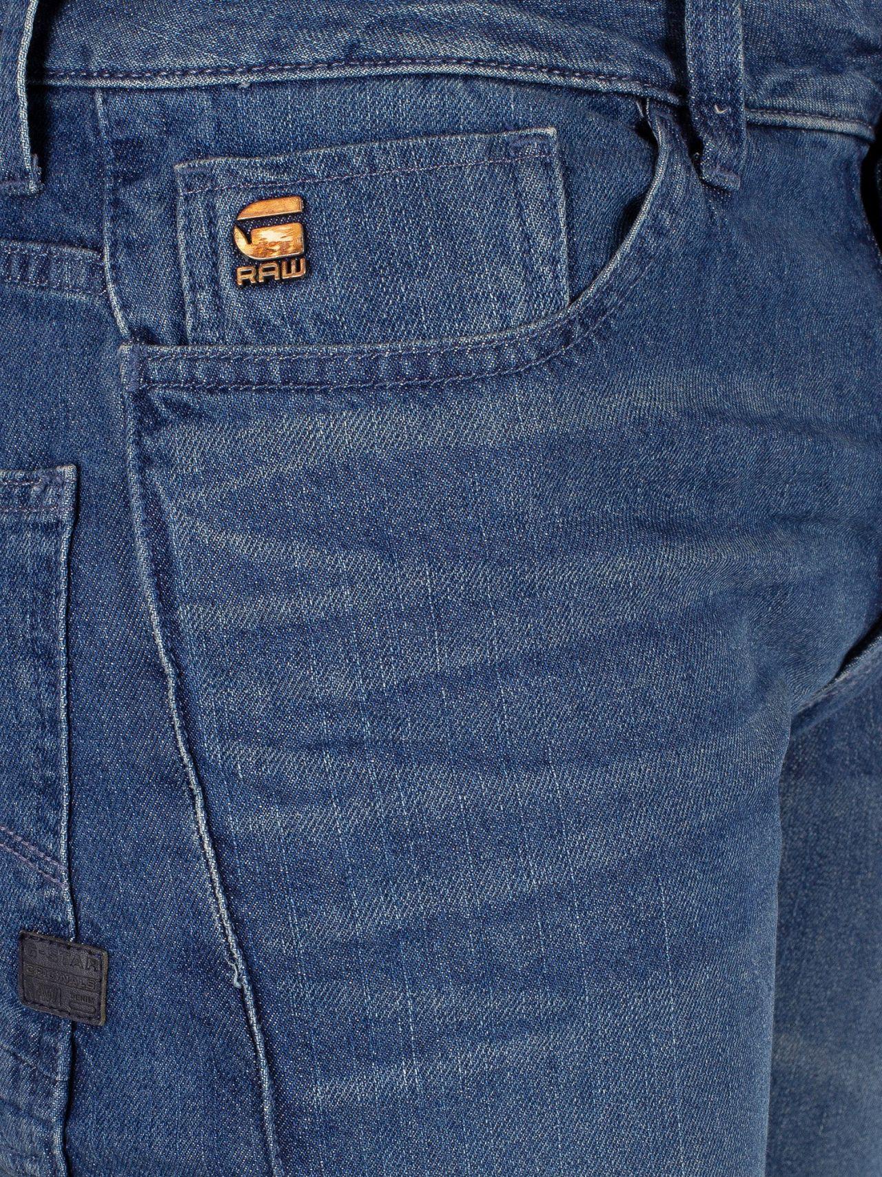 460b44e100c G-Star RAW Blue Motac Deconstructed 3d Slim Jeans in Blue for Men - Lyst