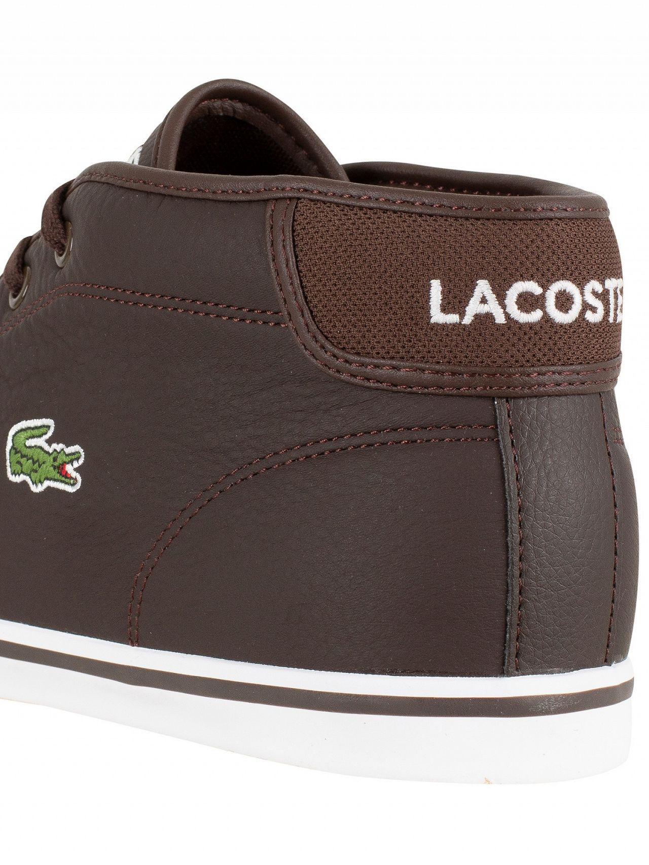 50786f36bfaa9b Lacoste - Dark Brown dark Brown Ampthill Lcr3 Spm Hi Trainers for Men - Lyst