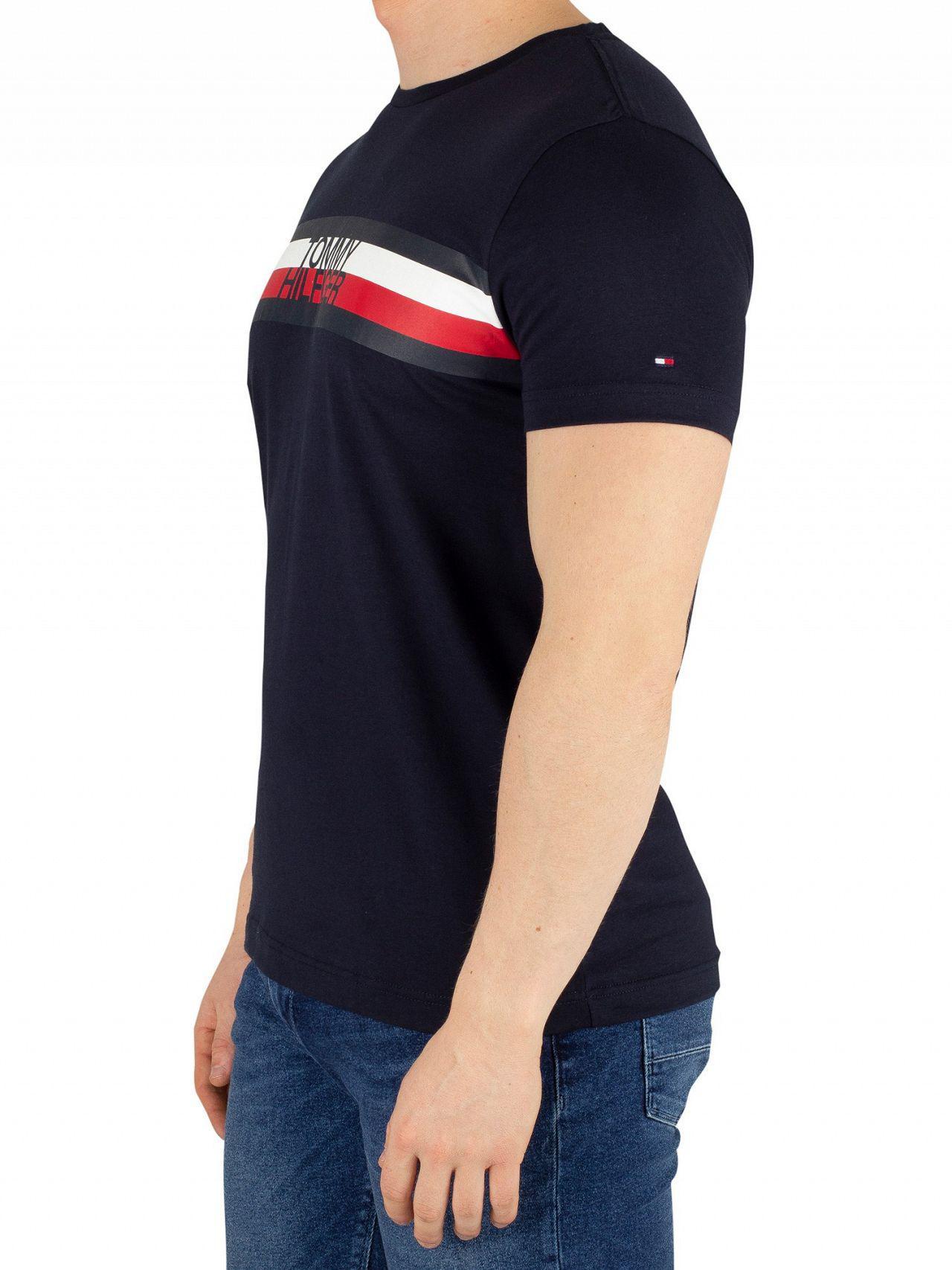 93f309ad Tommy Hilfiger Sky Captain Logo T-shirt in Blue for Men - Lyst