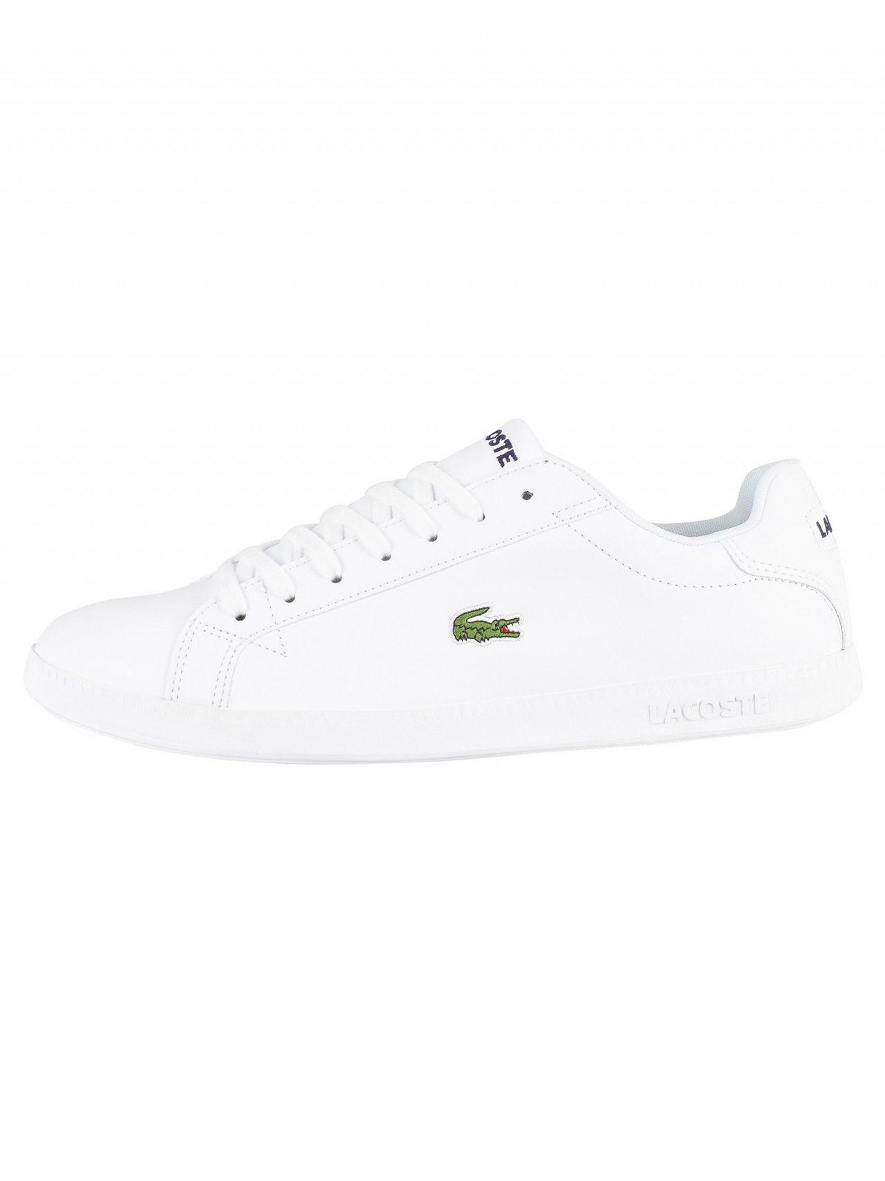 832f78fc3 Lyst - Lacoste White white Graduate Bl 1 Leather Trainers in White for Men