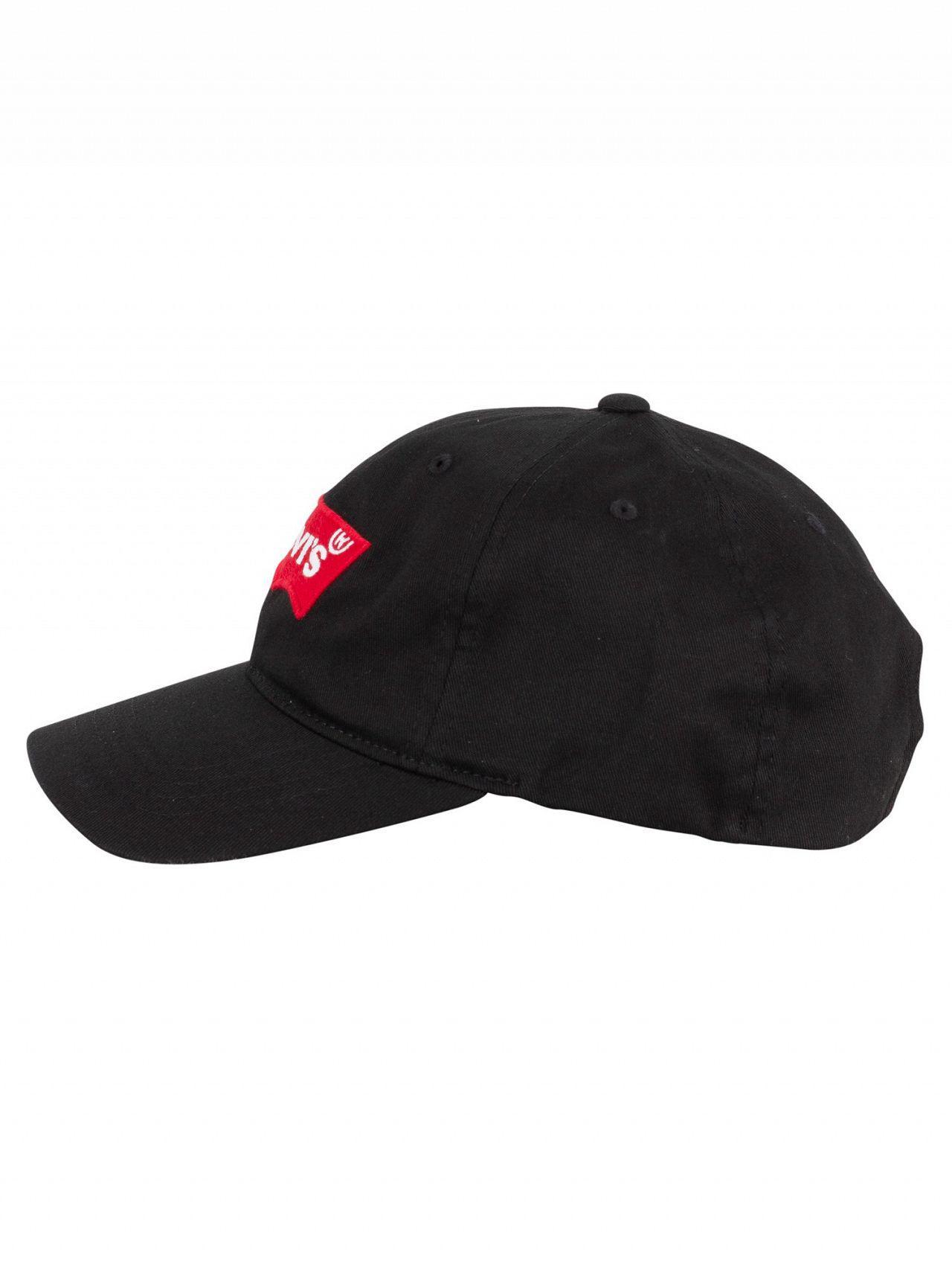 3eaf8ebf Levi's Black Batwing Flex Fit Baseball Cap in Black for Men - Lyst