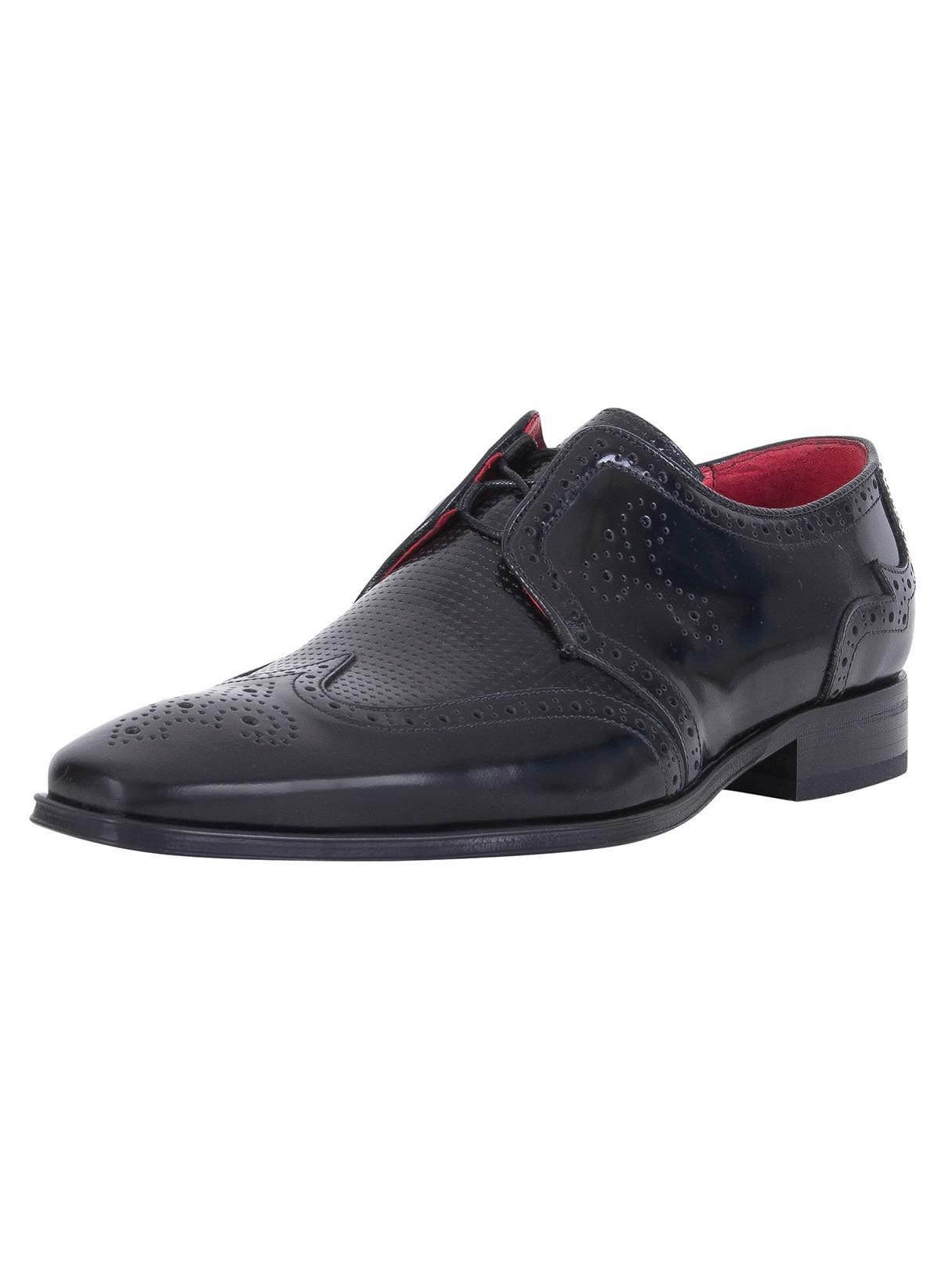 445b9ecb4825 Jeffery West College Black Polished Shoes in Black for Men - Lyst