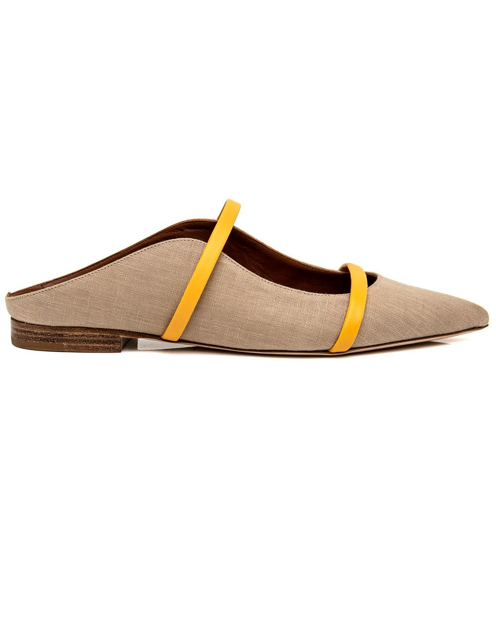 3305d2c3737 Lyst - Malone Souliers Beige Maureen Flat in Natural