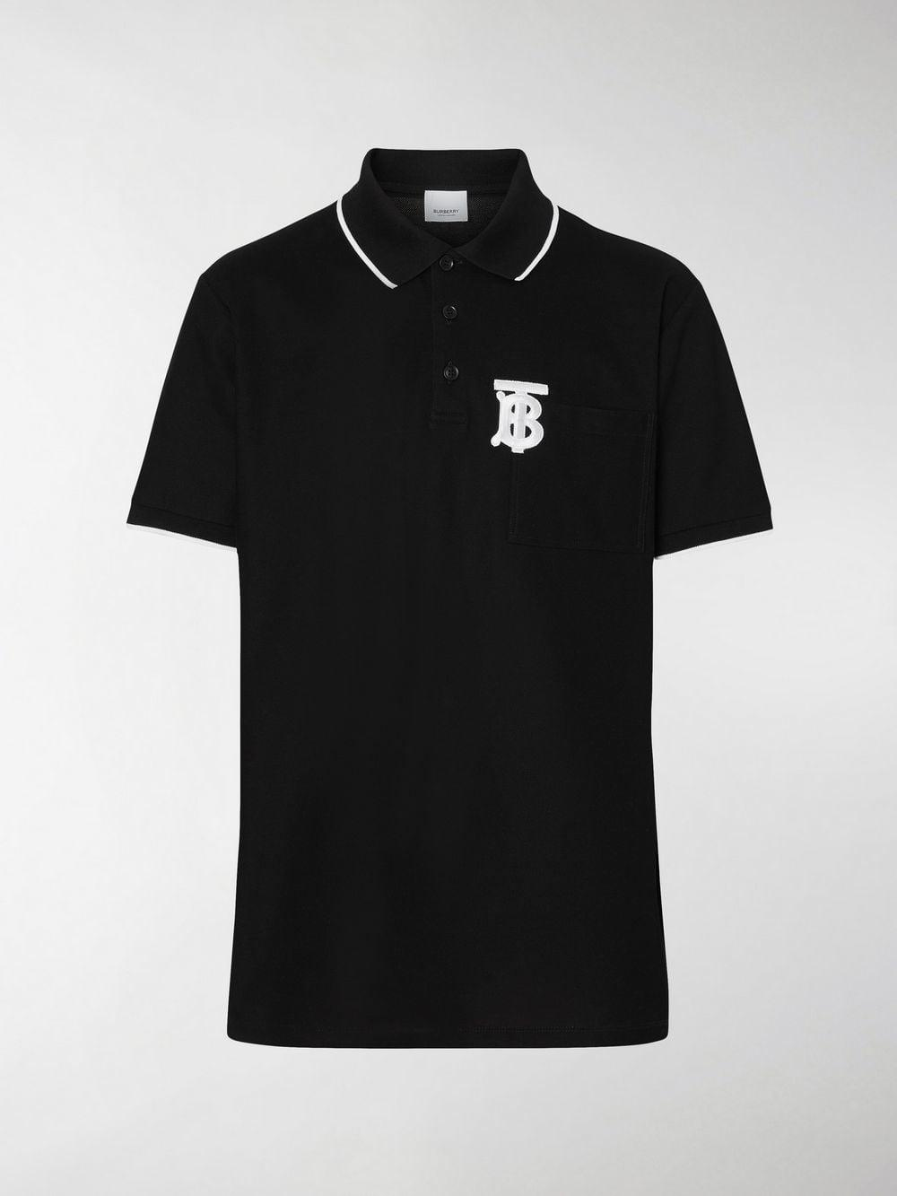 9a5ad41dcd903a Lyst - Burberry Monogram Motif Tipped Cotton Piqué Polo Shirt in ...