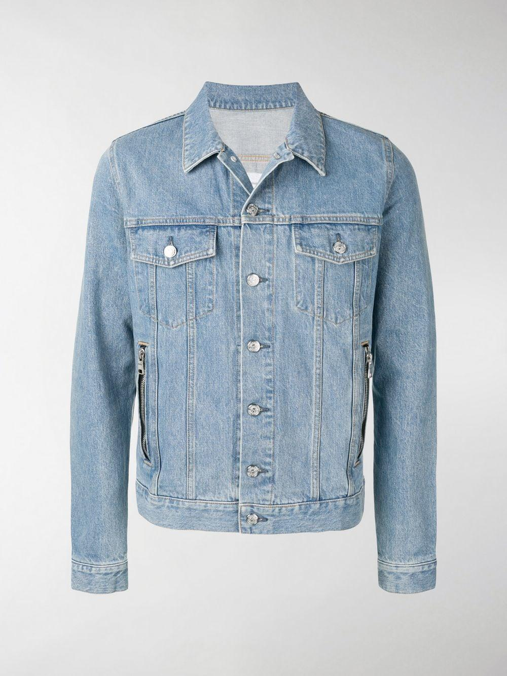 7df0c9f87b Lyst - Balmain Embroidered Logo Denim Jacket in Blue for Men