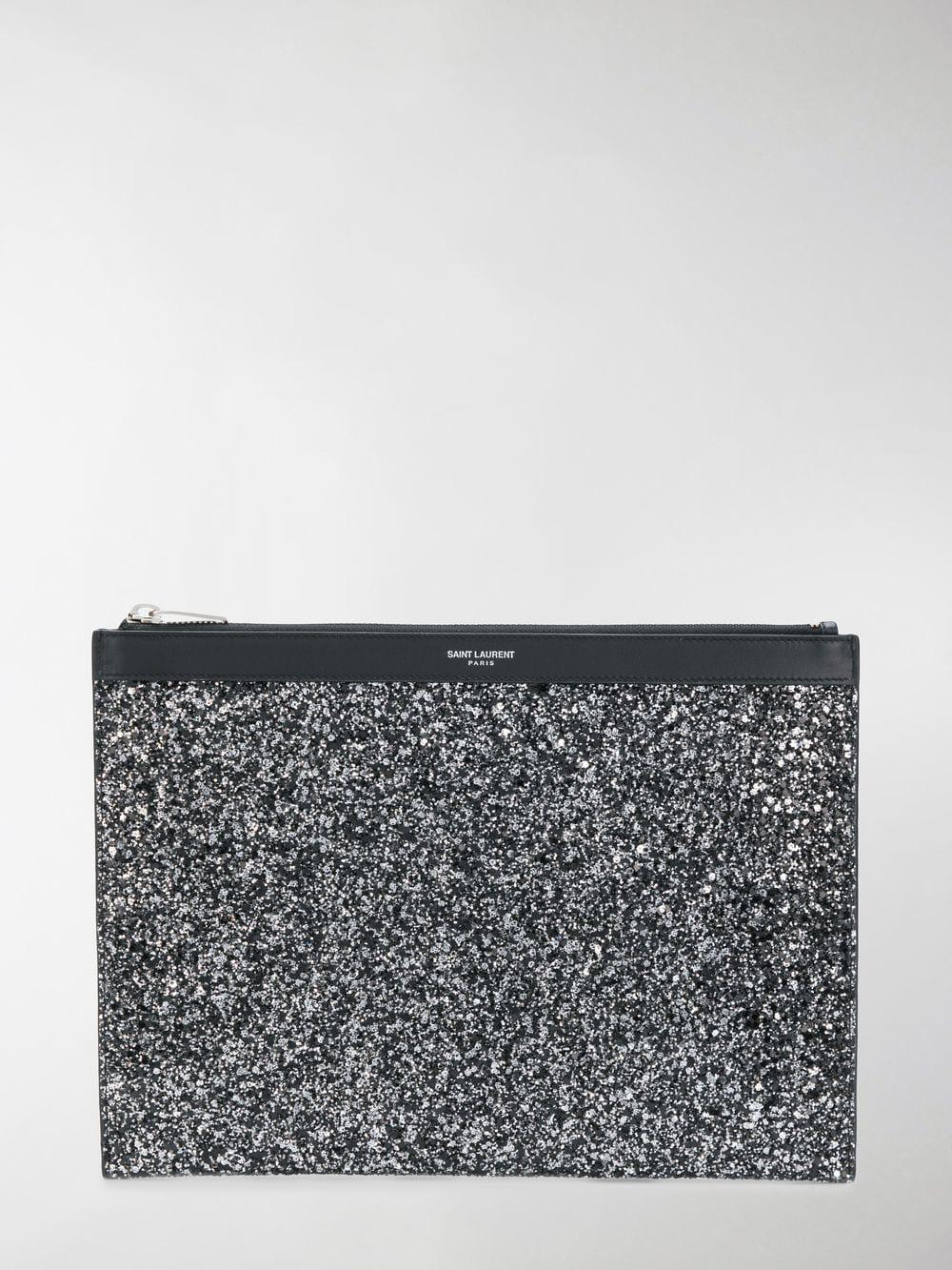 2447b12a340 Lyst - Saint Laurent Glitter Tablet Case in Black for Men