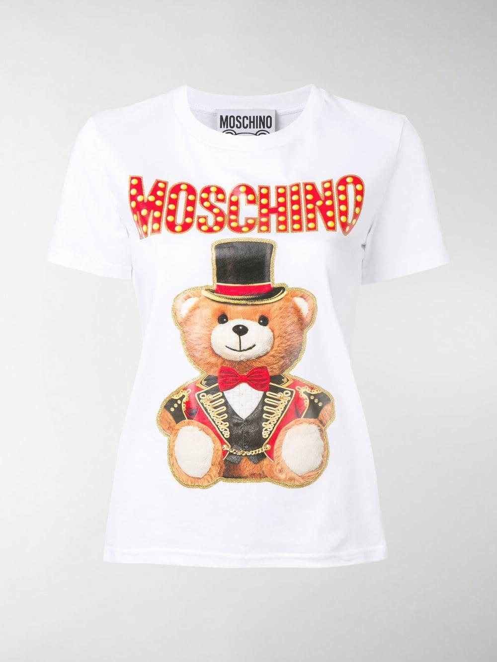 12f24e478 Moschino - White Ringmaster Teddy T-shirt - Lyst. View fullscreen