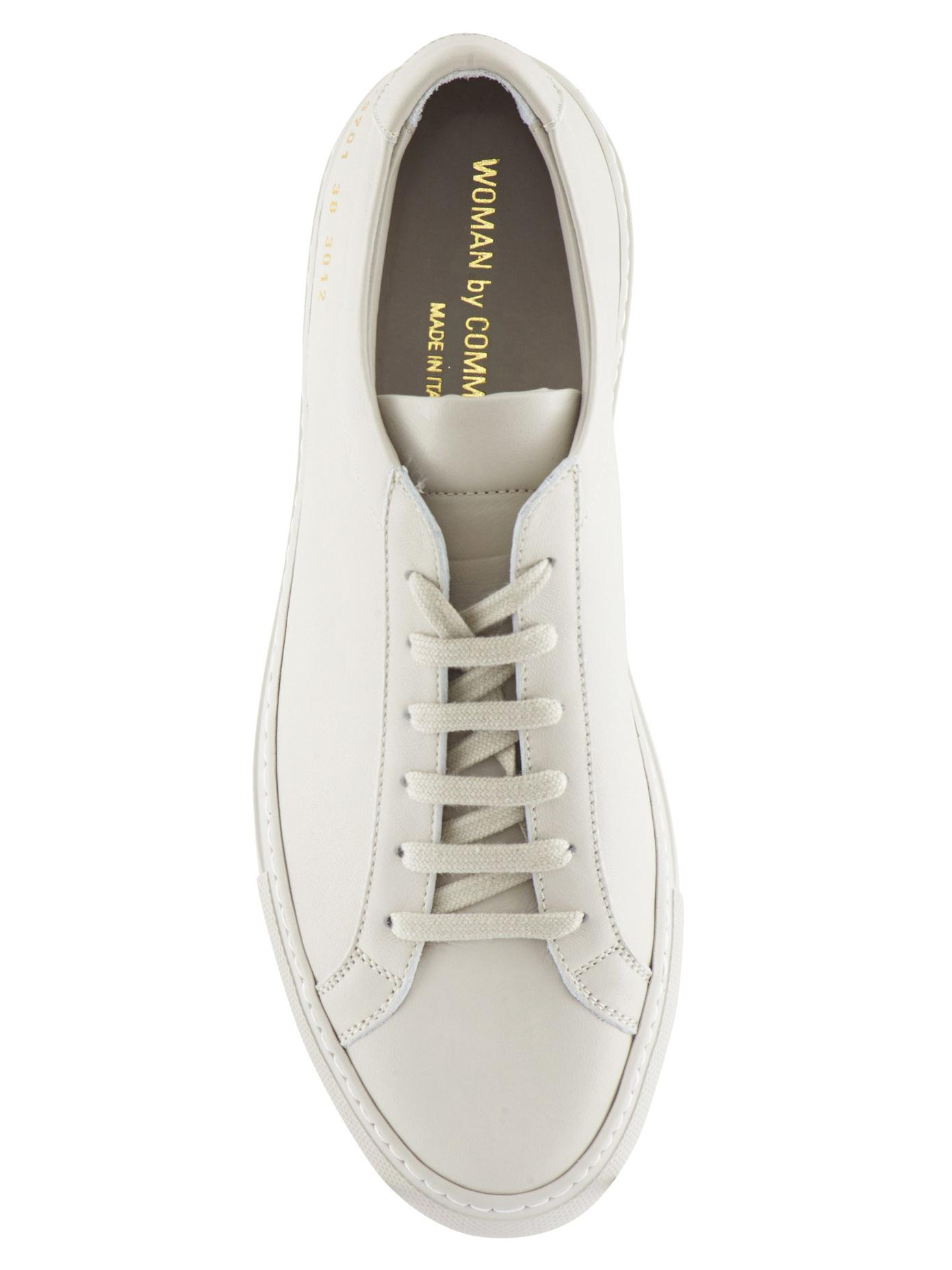 common projects achilles leather sneakers in white lyst. Black Bedroom Furniture Sets. Home Design Ideas