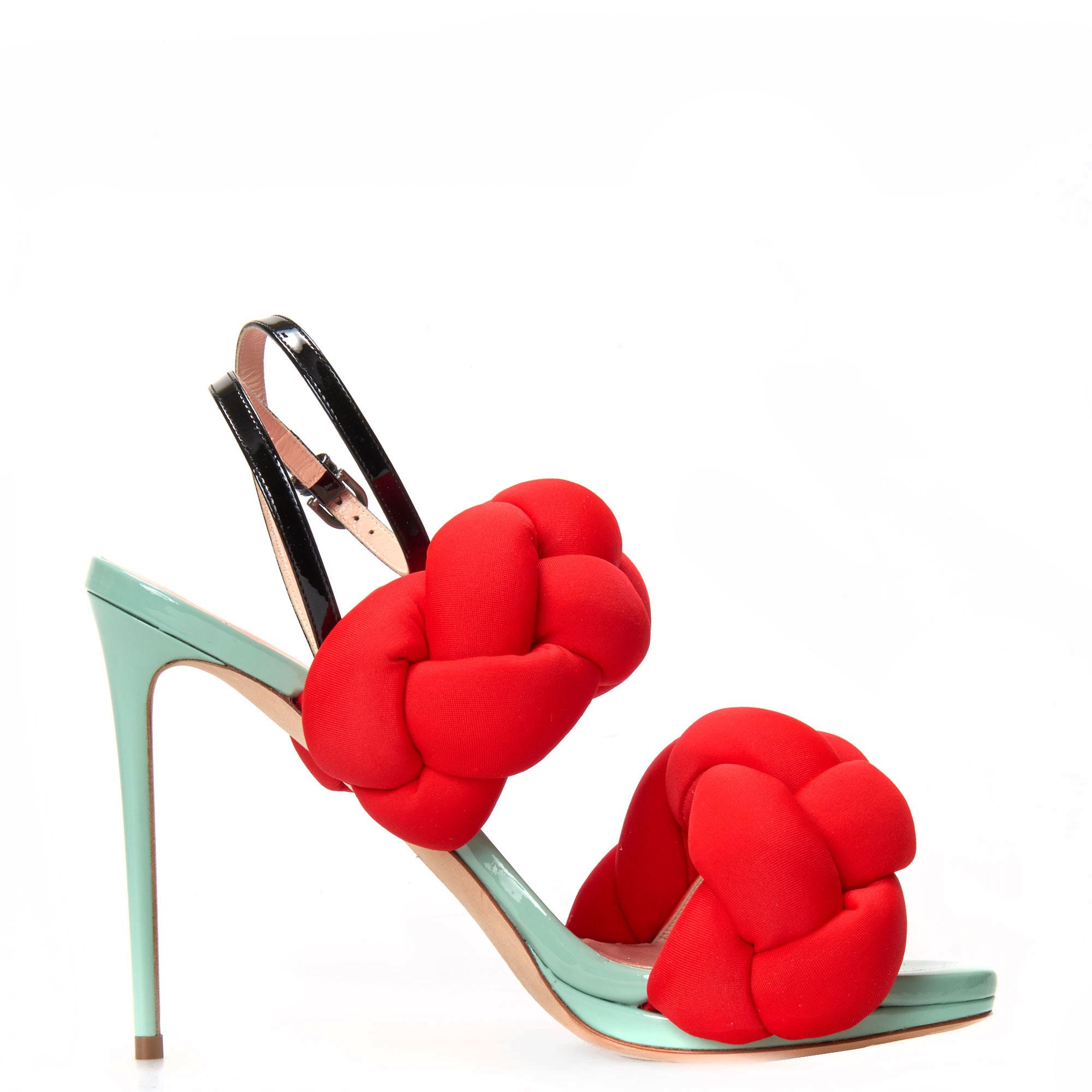 MARCO DE VINCENZO Plaited stiletto sandals