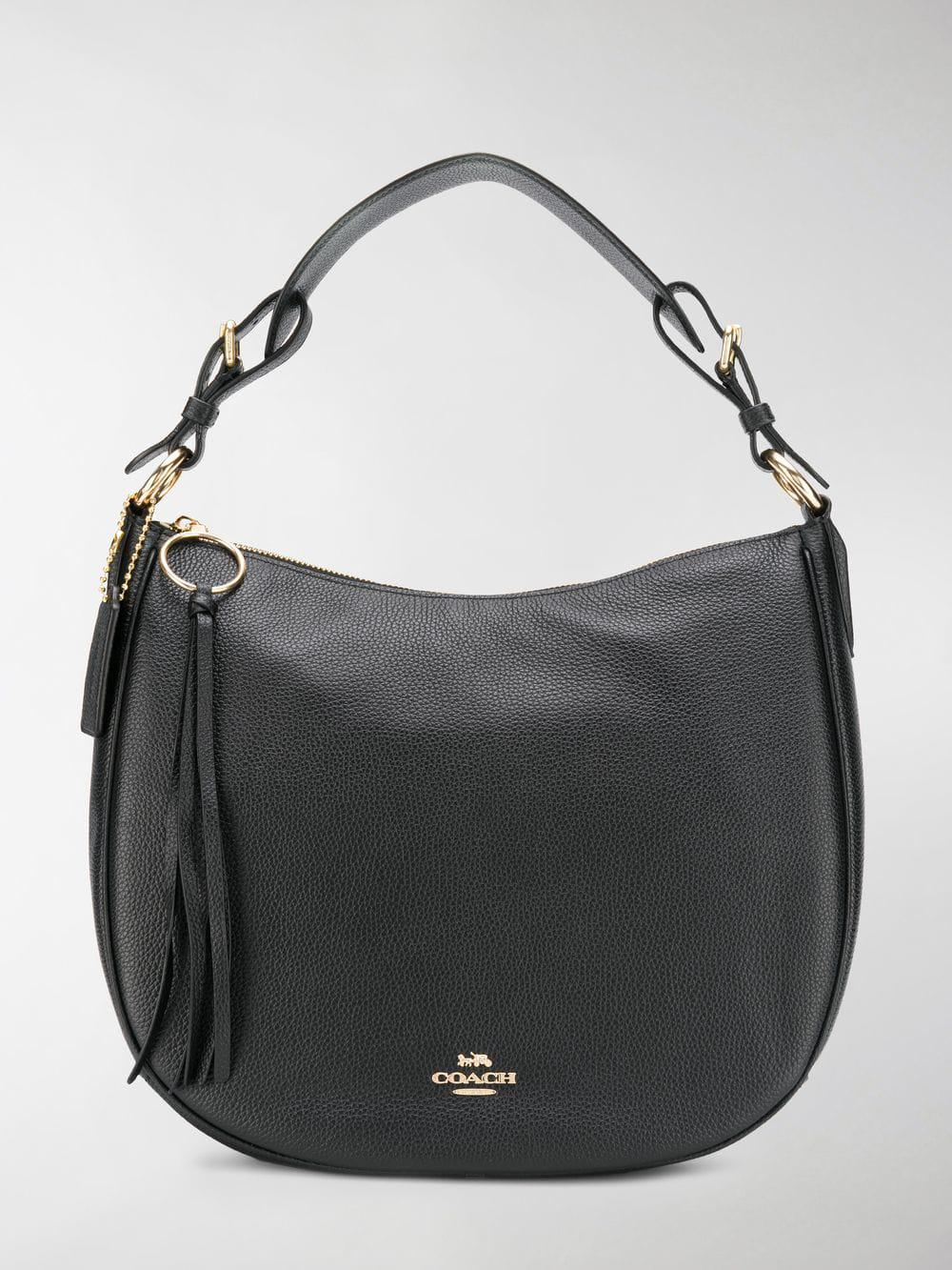 c0e0cf813fe86e COACH Sutton Hobo Bag in Black - Lyst