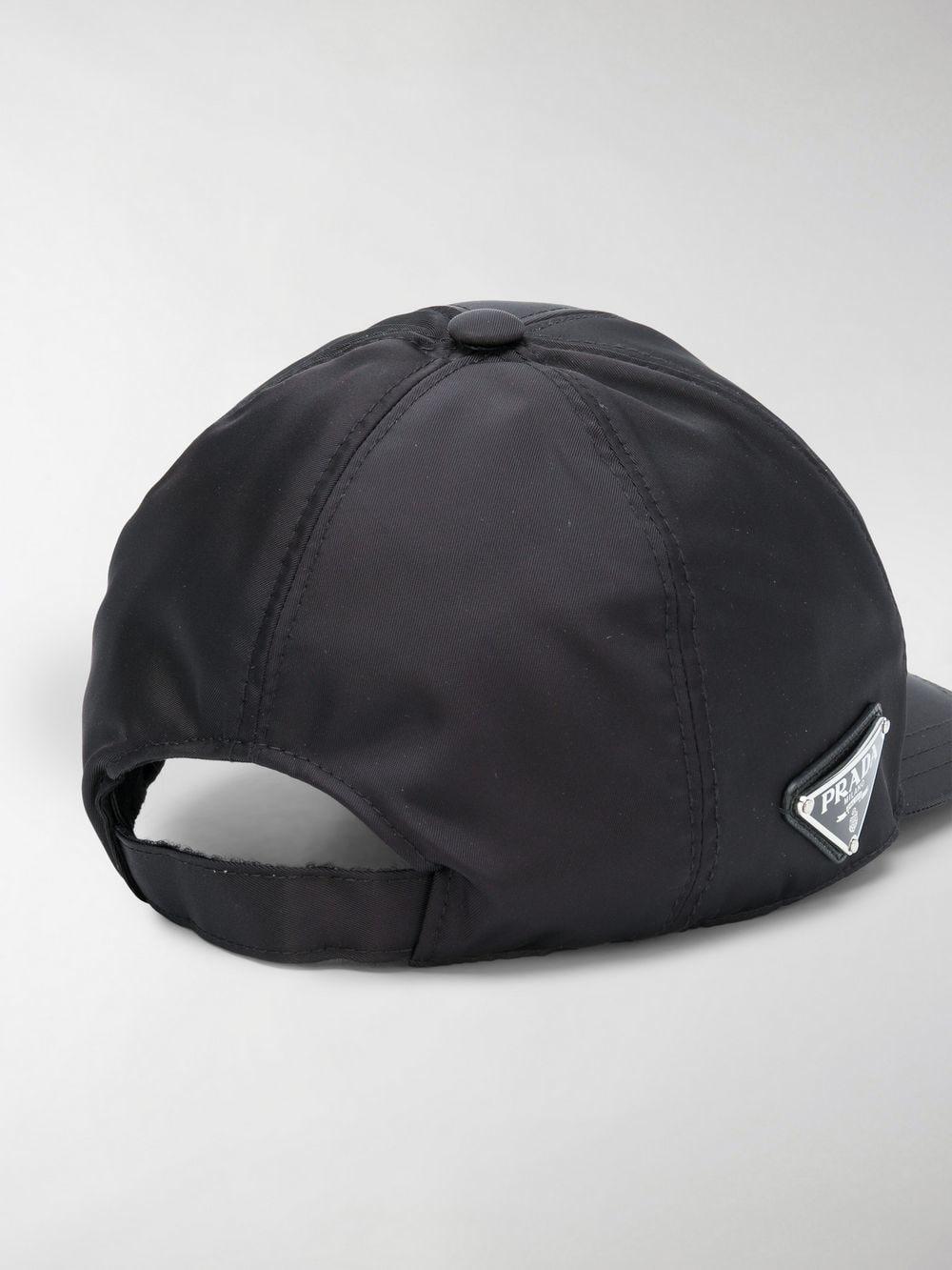 d2fc4288fdd42 Prada - Black Triangle Logo Baseball Cap for Men - Lyst. View fullscreen