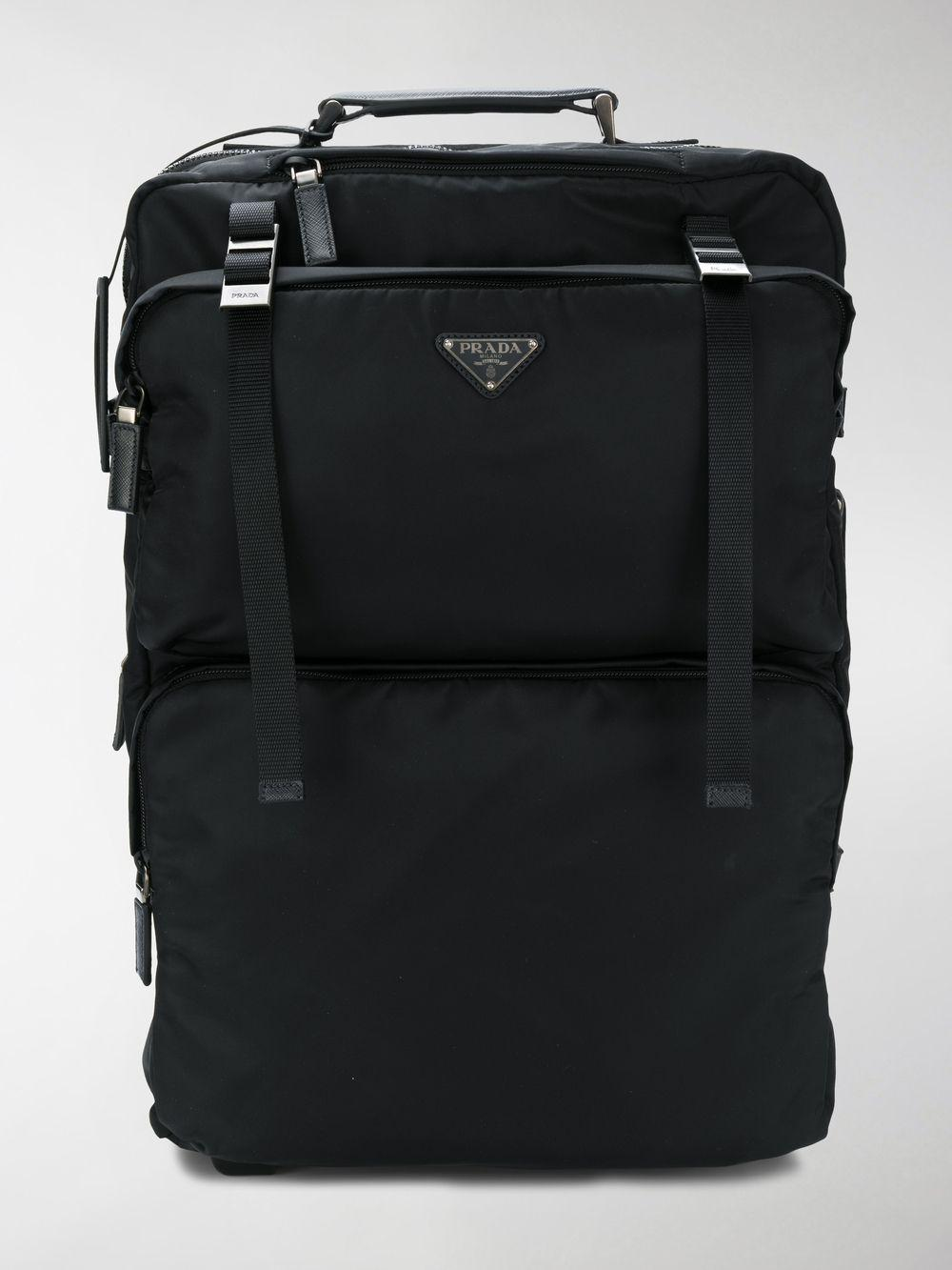 7ca244e3b60f Prada - Black Logo Trolley Travel Bag - Lyst. View fullscreen