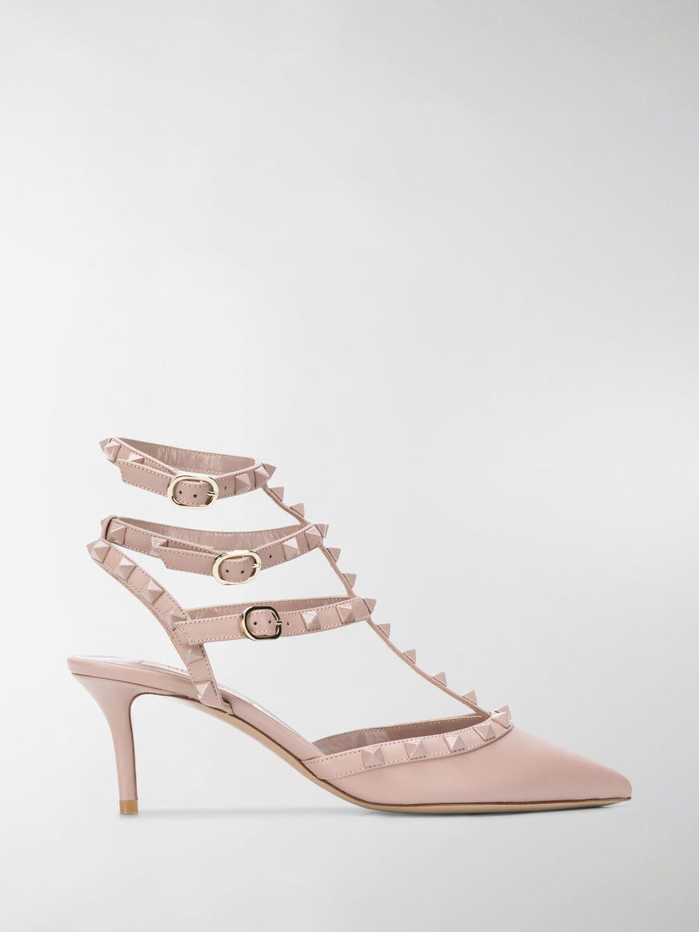 8991568c94c6 Valentino. Women s Pink Garavani Rockstud Court Shoes