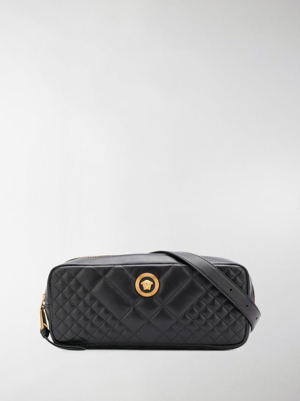0284d6ebfc Versace Black Quilted Bag
