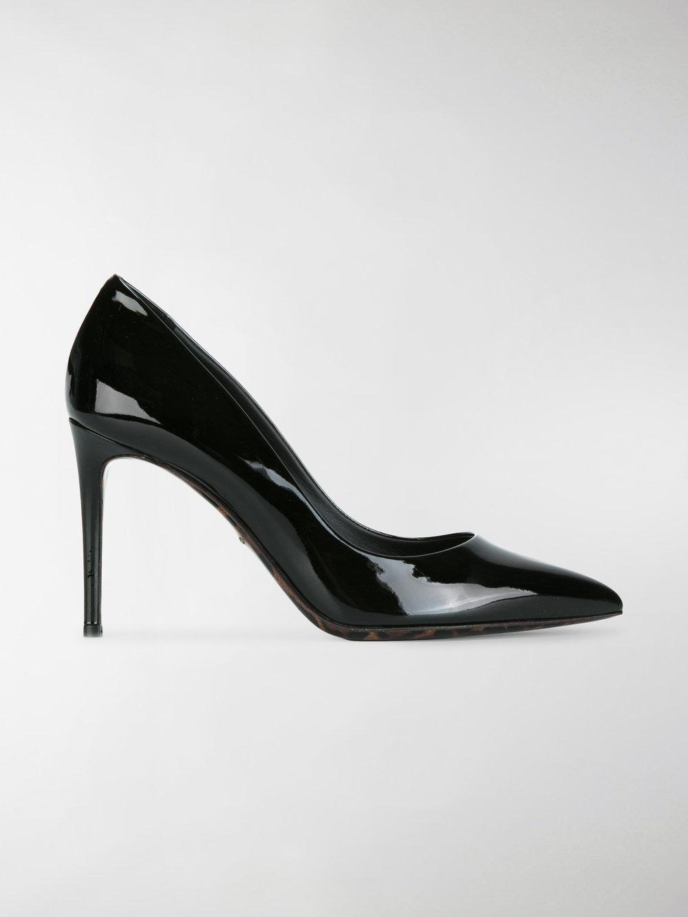 Dolce & Gabbana Pompes De Finition Léopard - Noir VWHru2i7OD