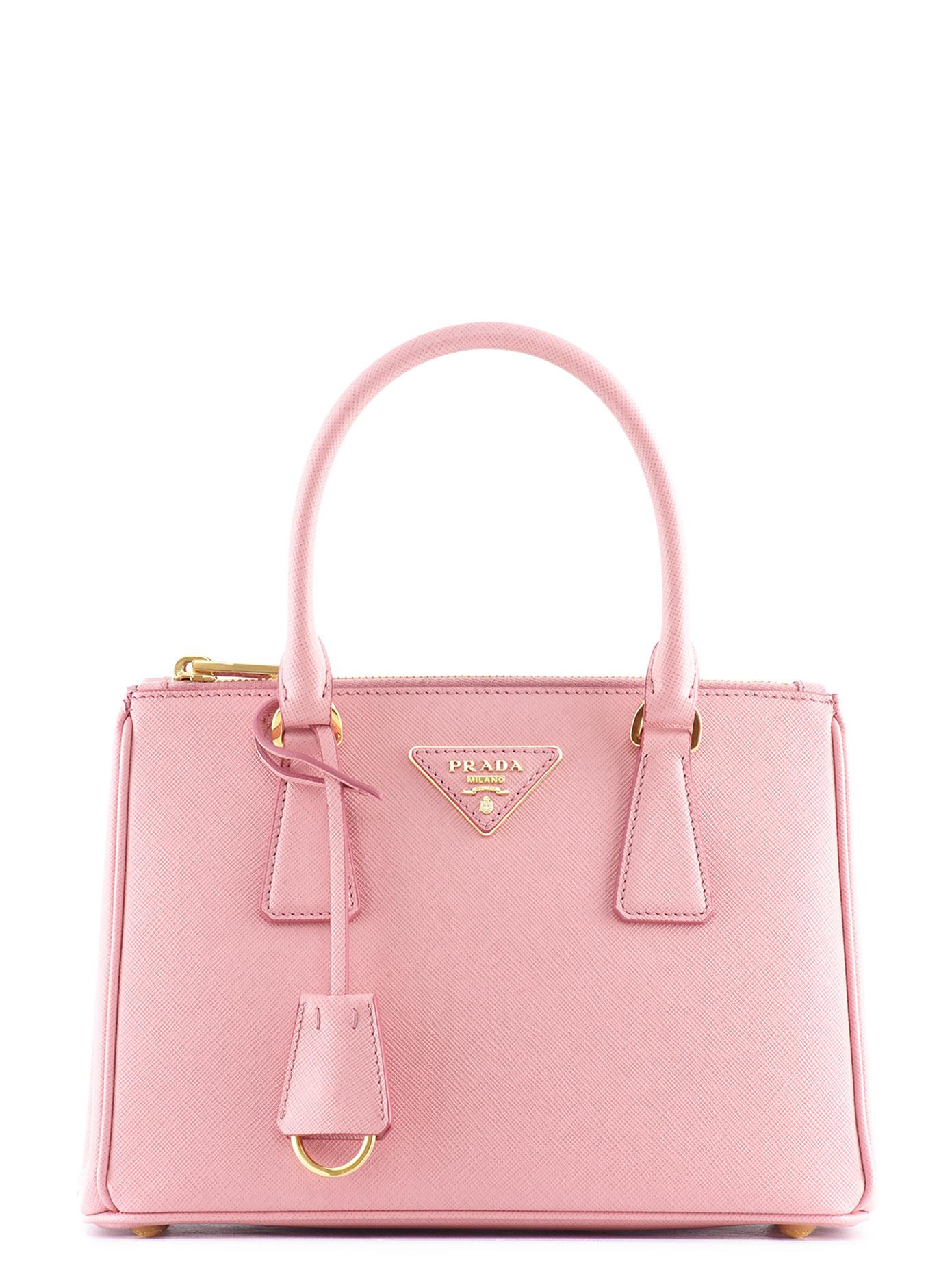 a8d6aef33e7c7f Prada Galleria Small Saffiano Leather Bag in Pink - Lyst