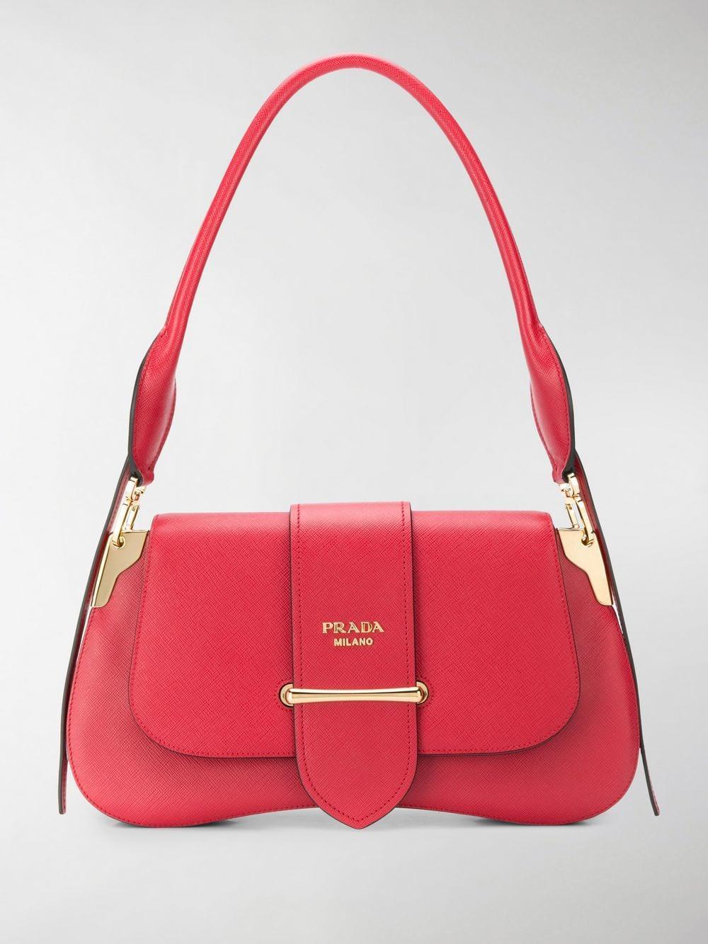 2d40beb716 Lyst - Prada Sidonie Medium Shoulder Bag in Red