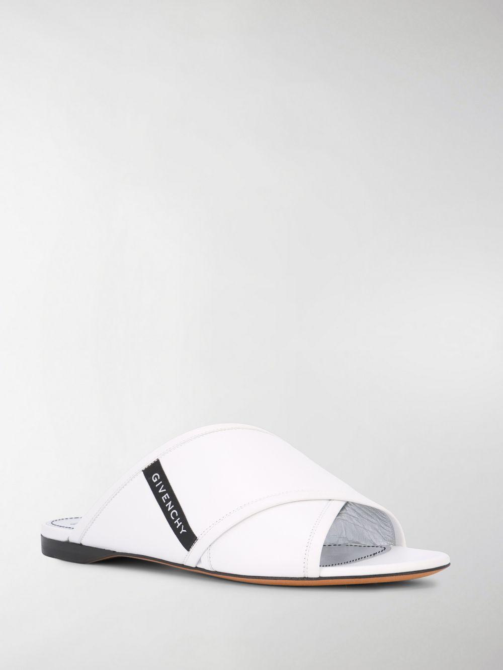 a3dc219b98b4 Givenchy - White Crossover Flat Sandals - Lyst. View fullscreen
