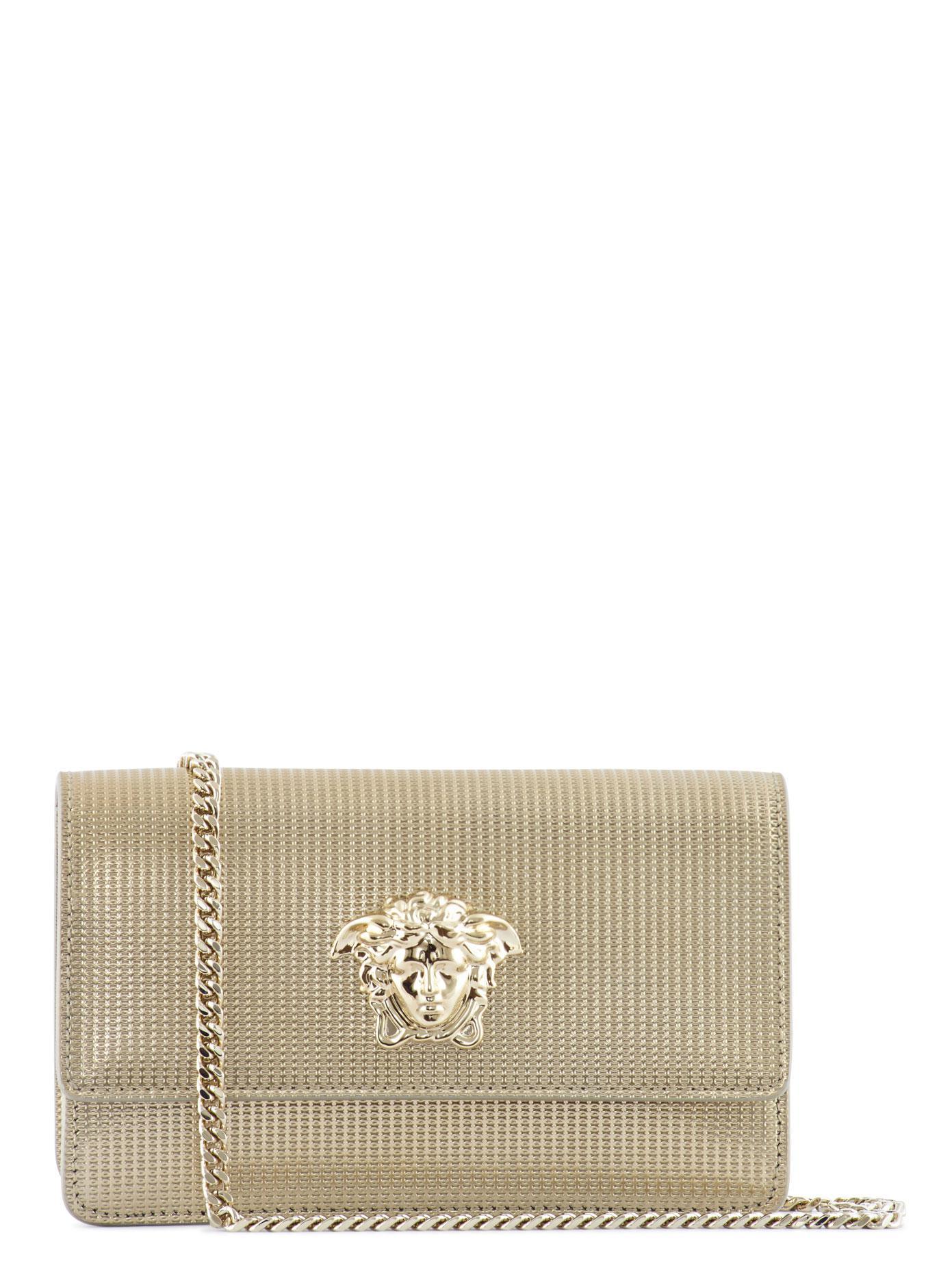 3d358e400bfb Versace Palazzo Medusa Crossbody Bag in Metallic - Lyst