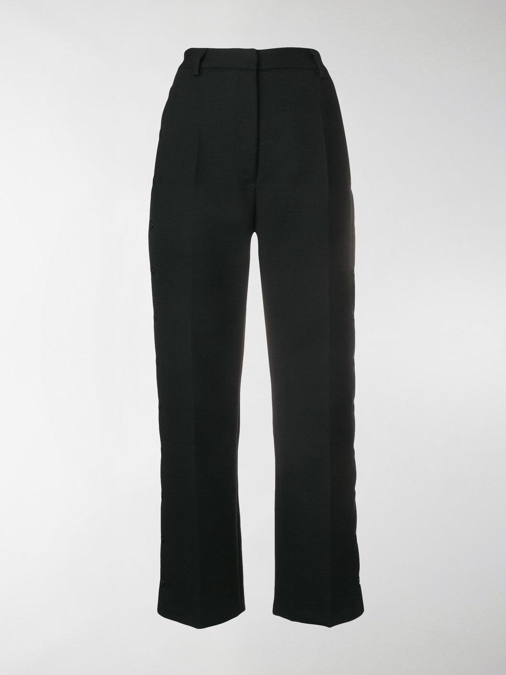 Release Dates Outlet Marketable snap-fastened tailored trousers - Black Maison Martin Margiela ka9g67