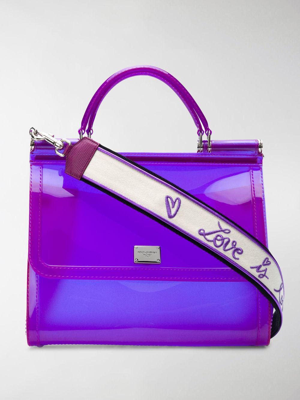 7b9ccd0ea6 Lyst - Dolce   Gabbana Large Sicily Bag in Purple
