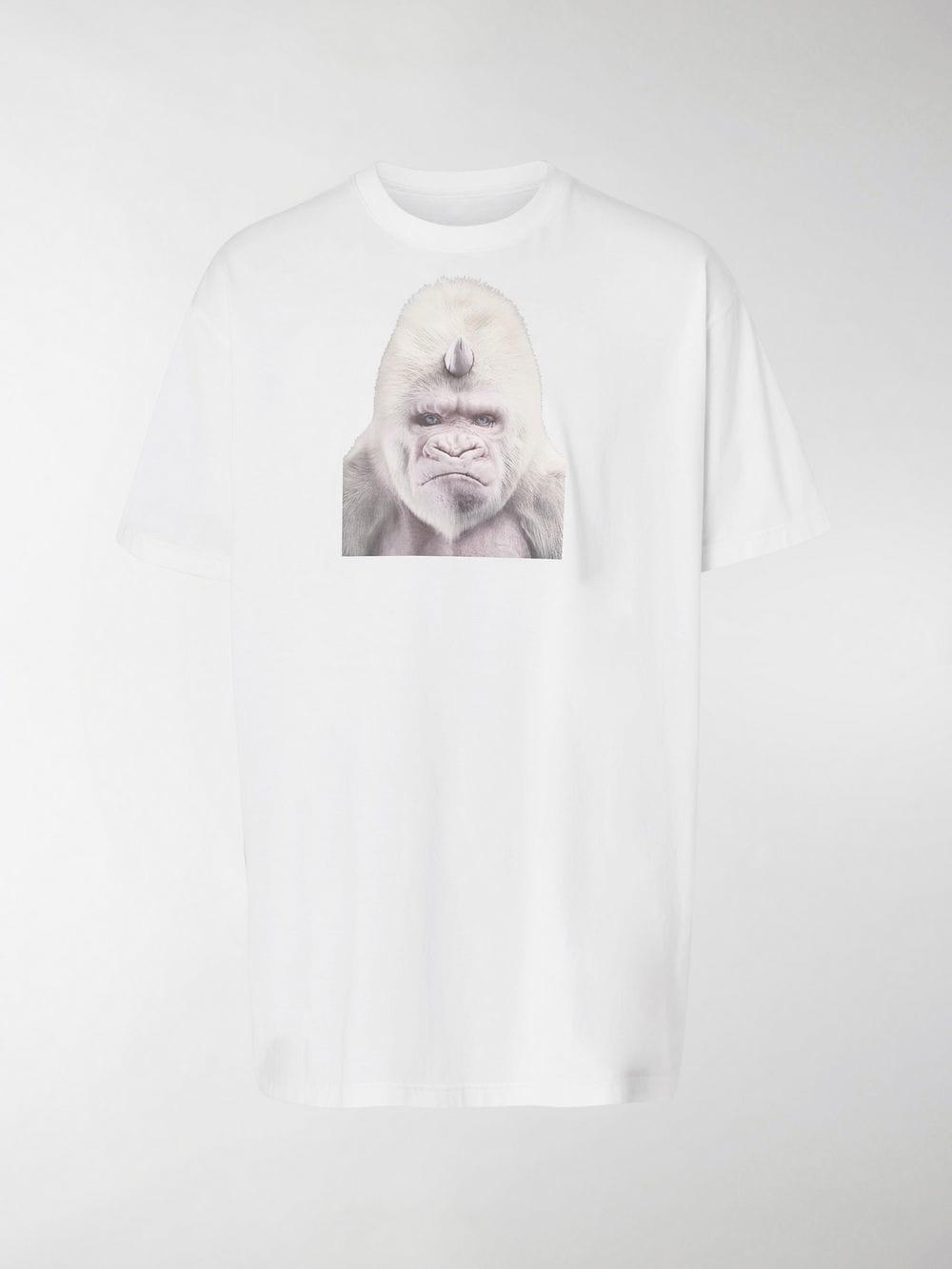 d1f1b0acf Burberry Gorilla Print Cotton T-shirt in White for Men - Lyst