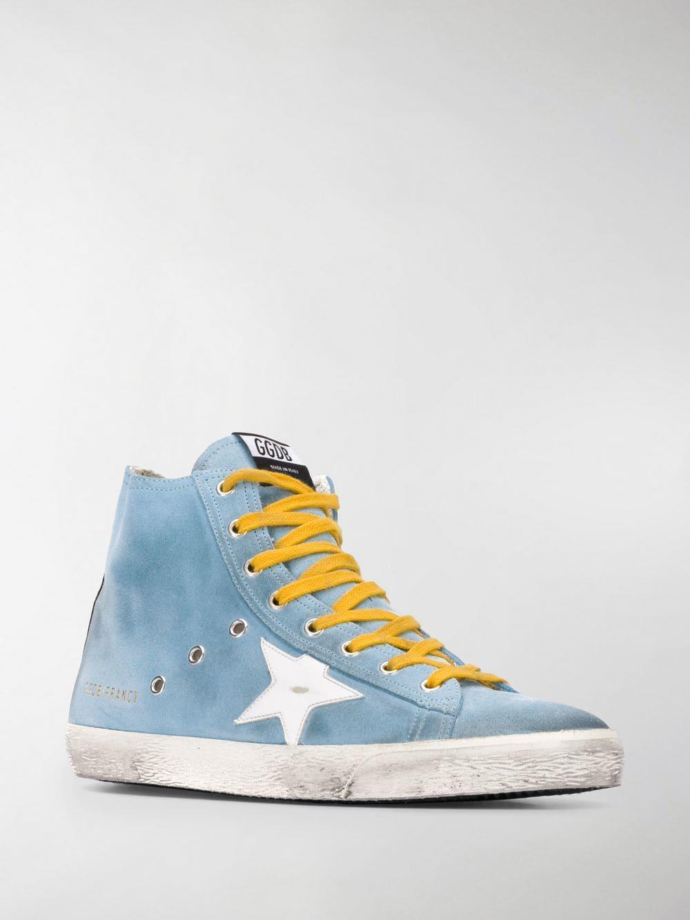 8adecd44121db Lyst - Golden Goose Deluxe Brand Francy Hi-top Sneakers in Blue for Men