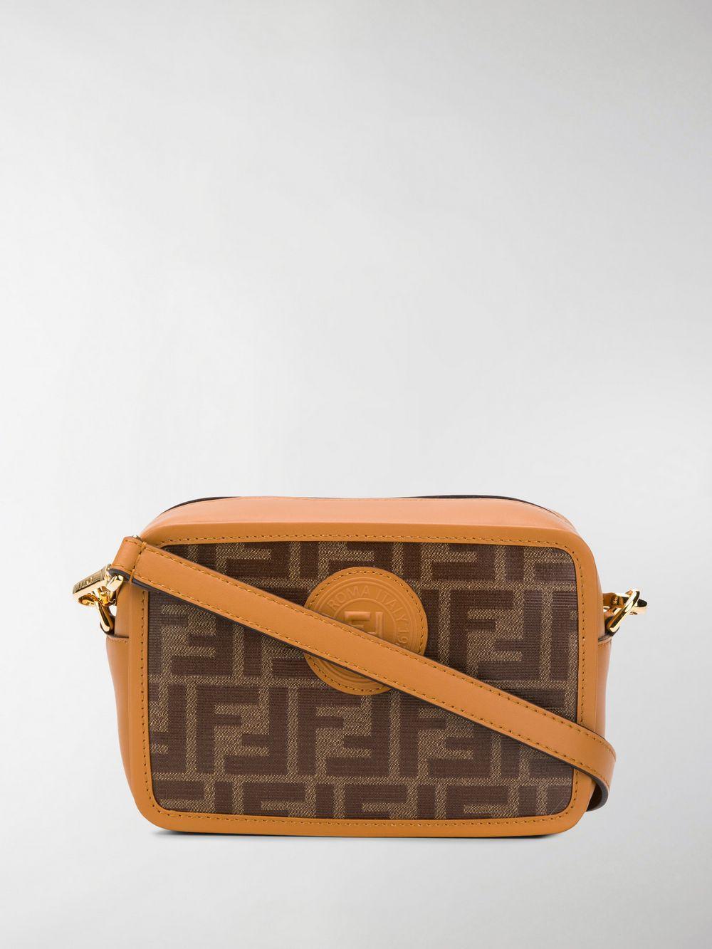 2176a5cec5f0 Fendi Mini Camera Case Crossbody Bag in Brown - Lyst