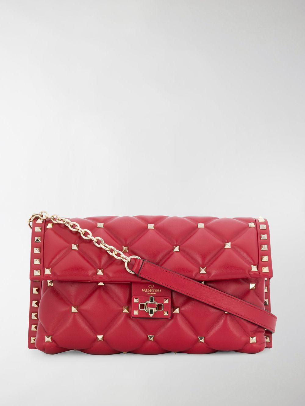 Valentino Garavani Candystud Shoulder Bag in Red - Lyst 2d0d929a11