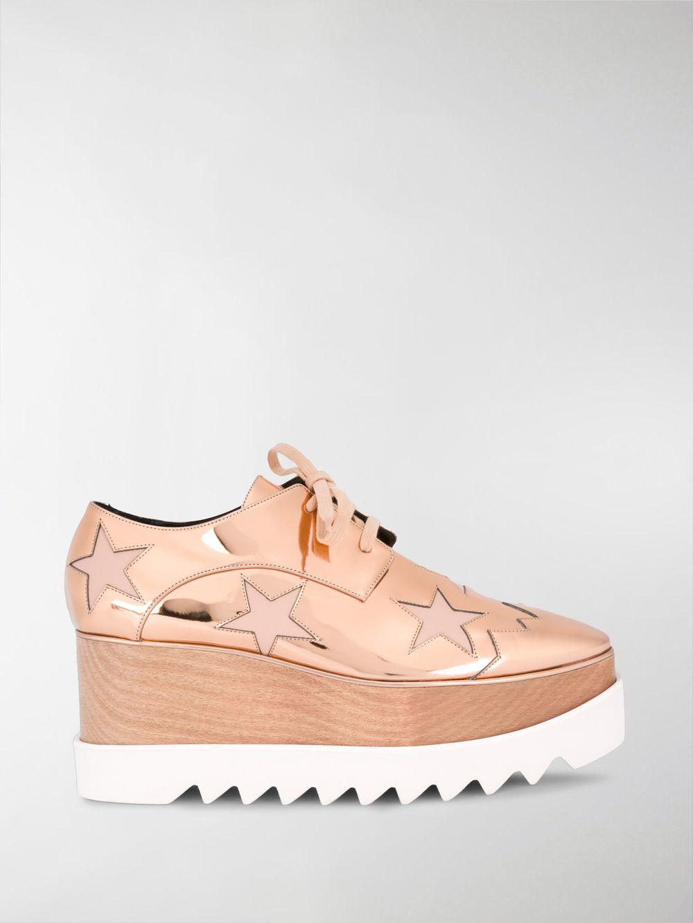 c3c09174db32 Stella Mccartney Elyse Star Platform Shoes in Pink - Lyst